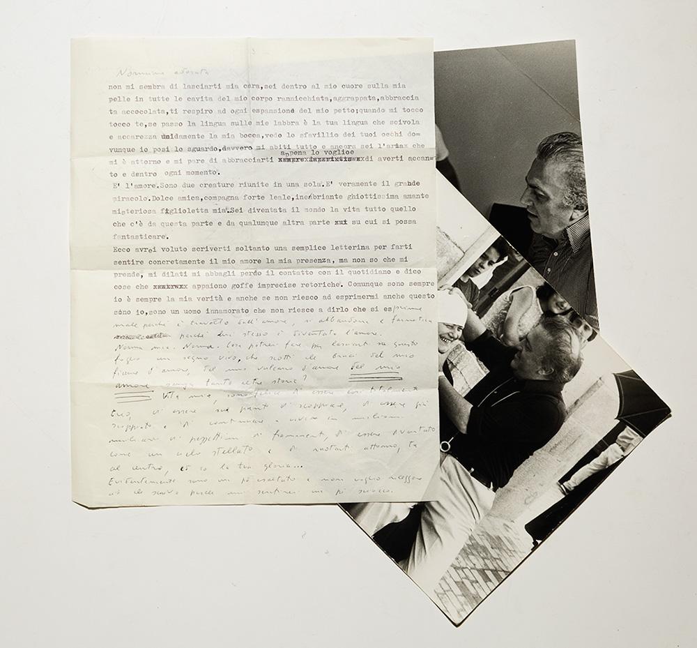 Lettere dattiloscritte con parti autografe