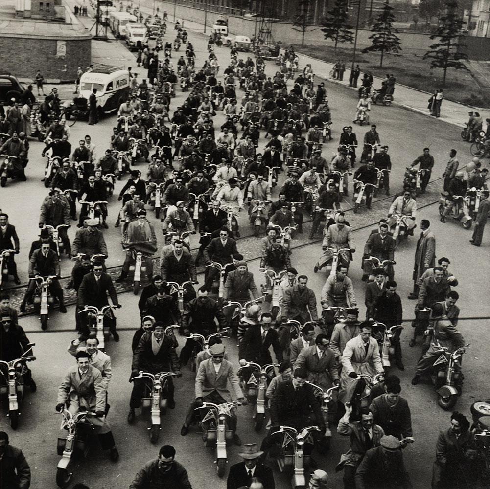 Raduno Lambrette, Milano, 1950