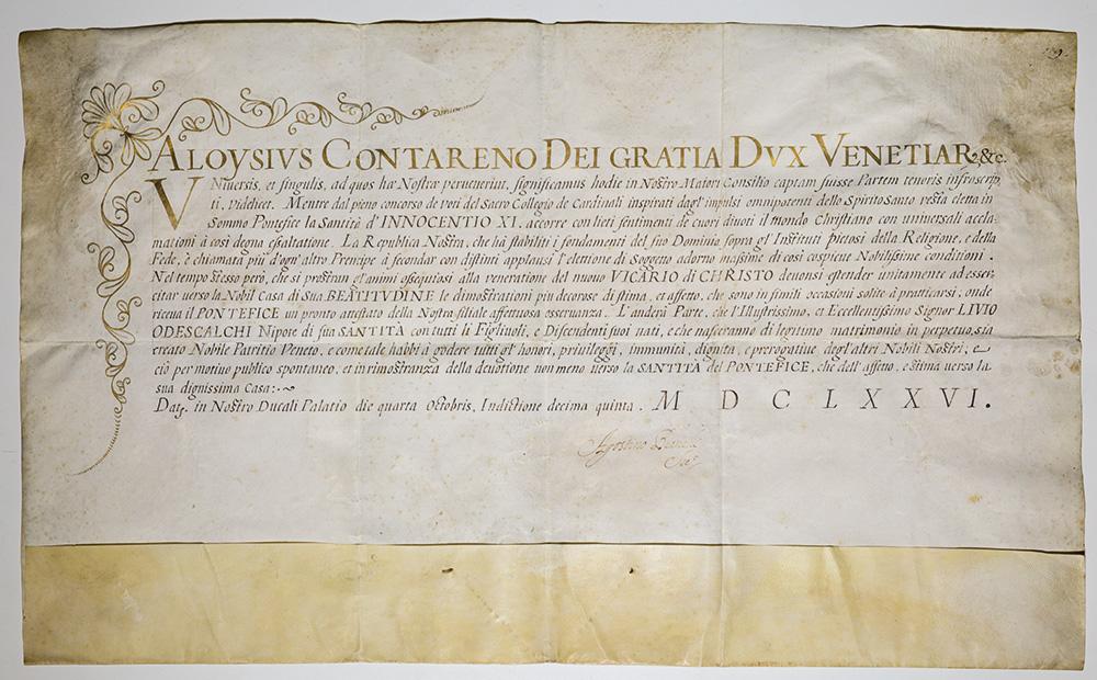 Patente di Nobiltà veneta