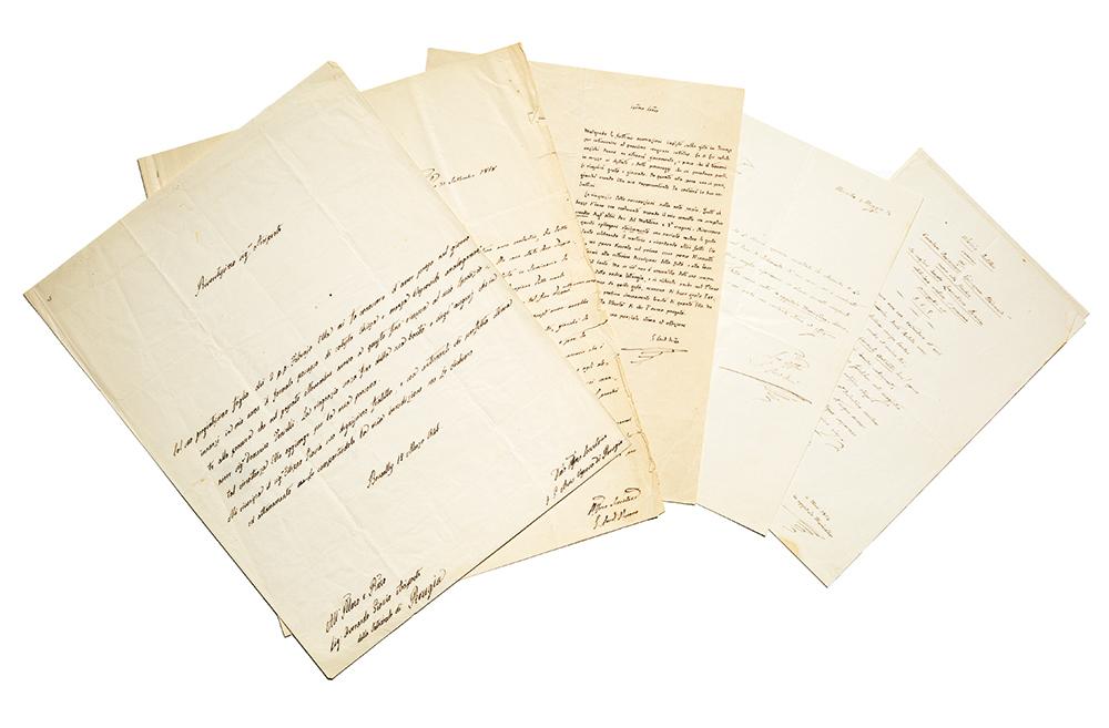 Quattro lettere autografe firmate