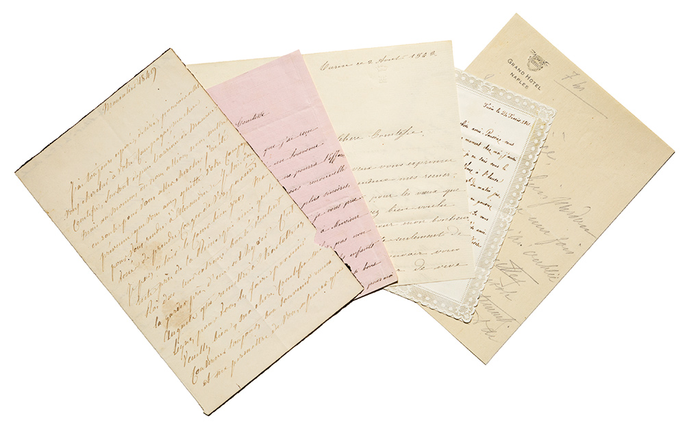 Lettere autografe firmate