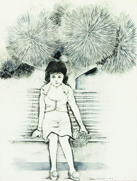 Fanciulla sulla panchina, 1963