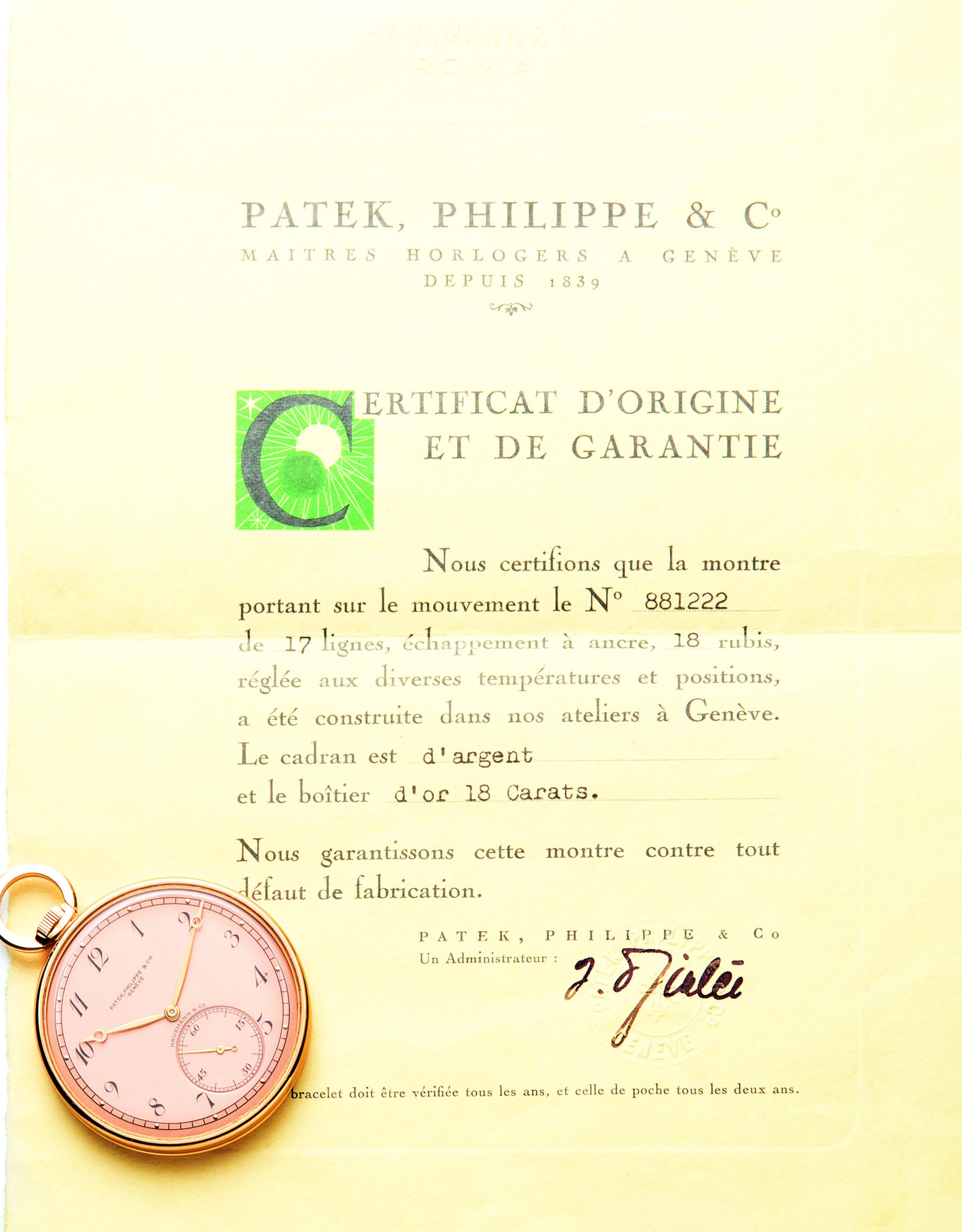 Patek Philippe per Hausmann