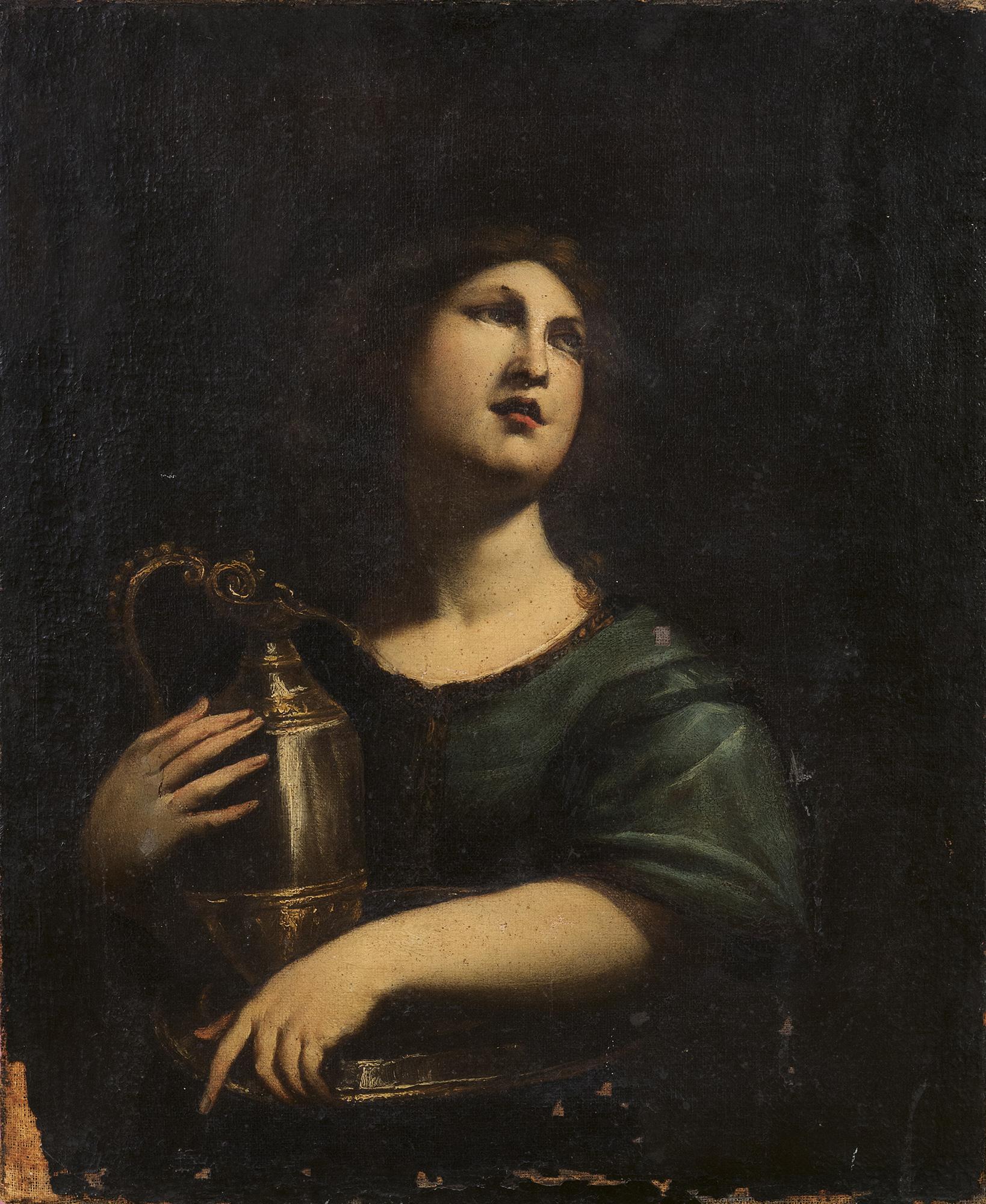 Figura allegorica con brocca (Artemisia?)