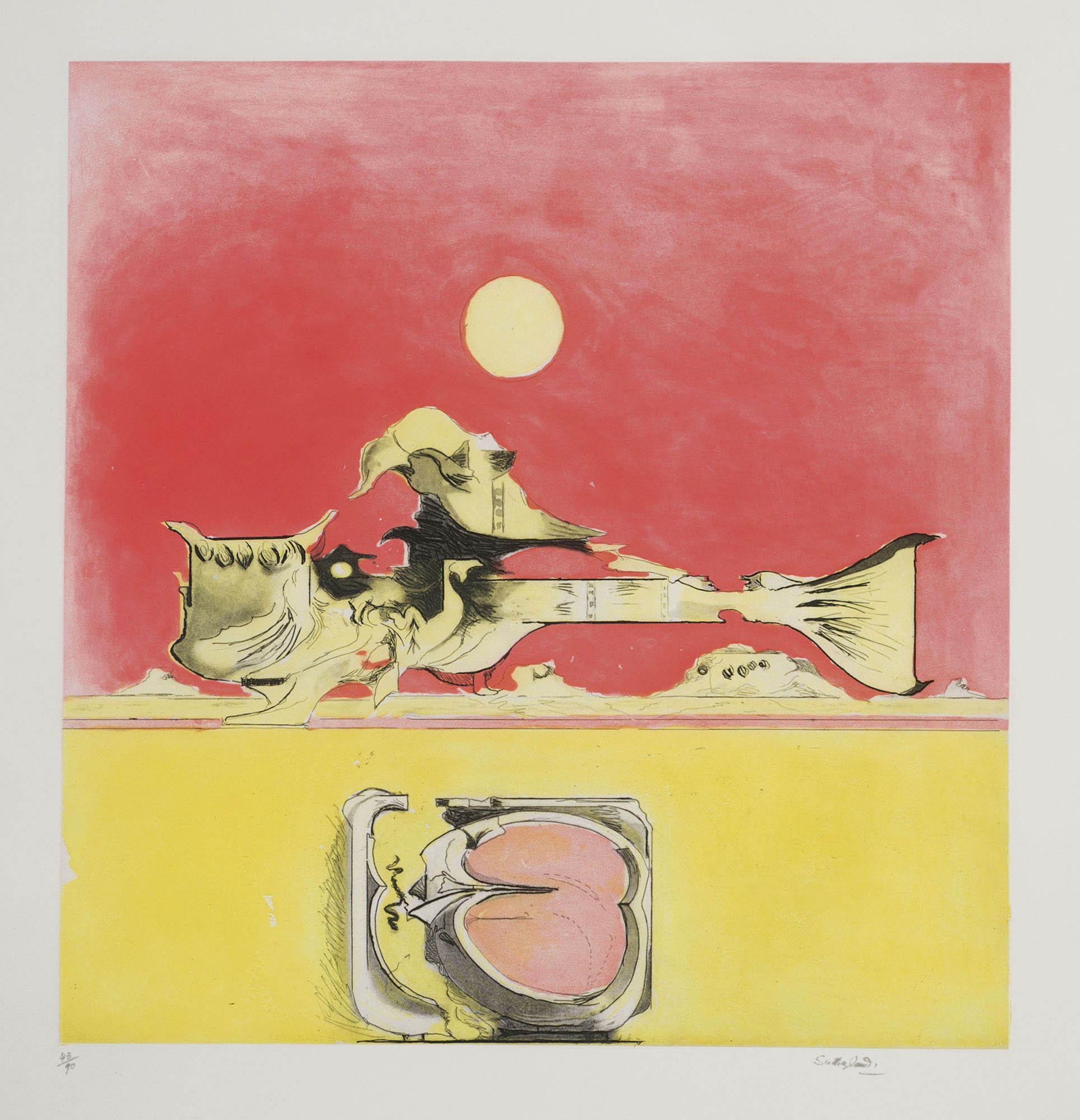 Presenza grafica (2 versions) – rosso, 1974