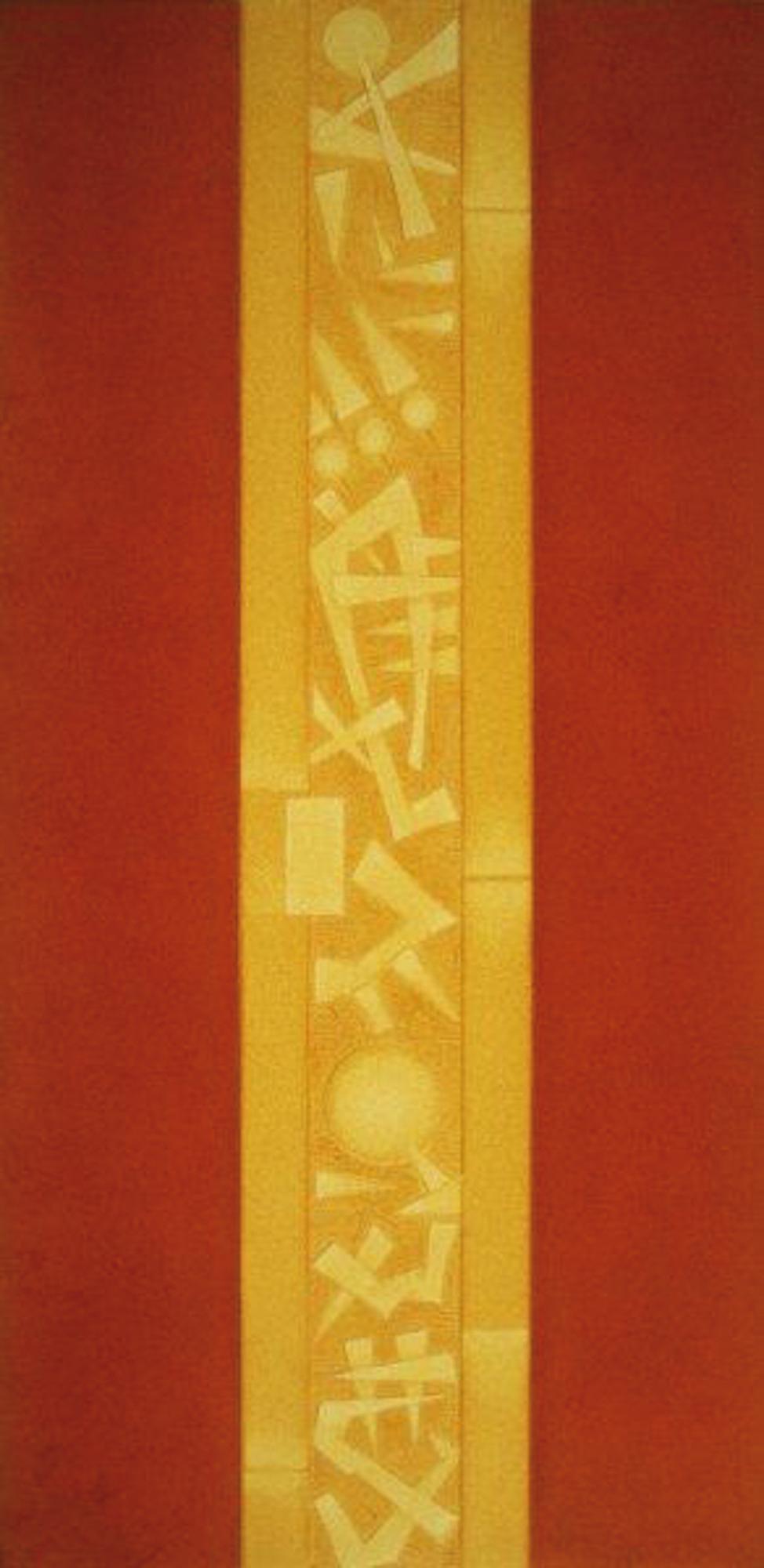 Stele I (arancione), 1999