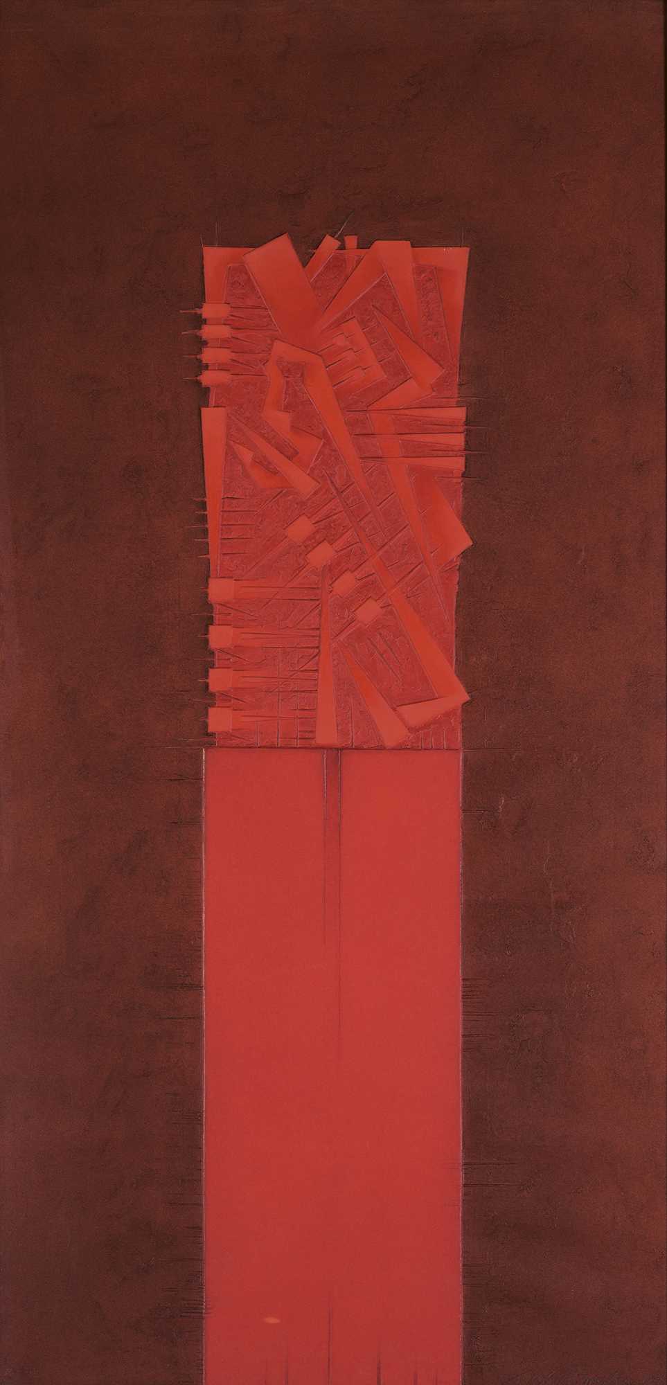Stele IV (rosso), 1999