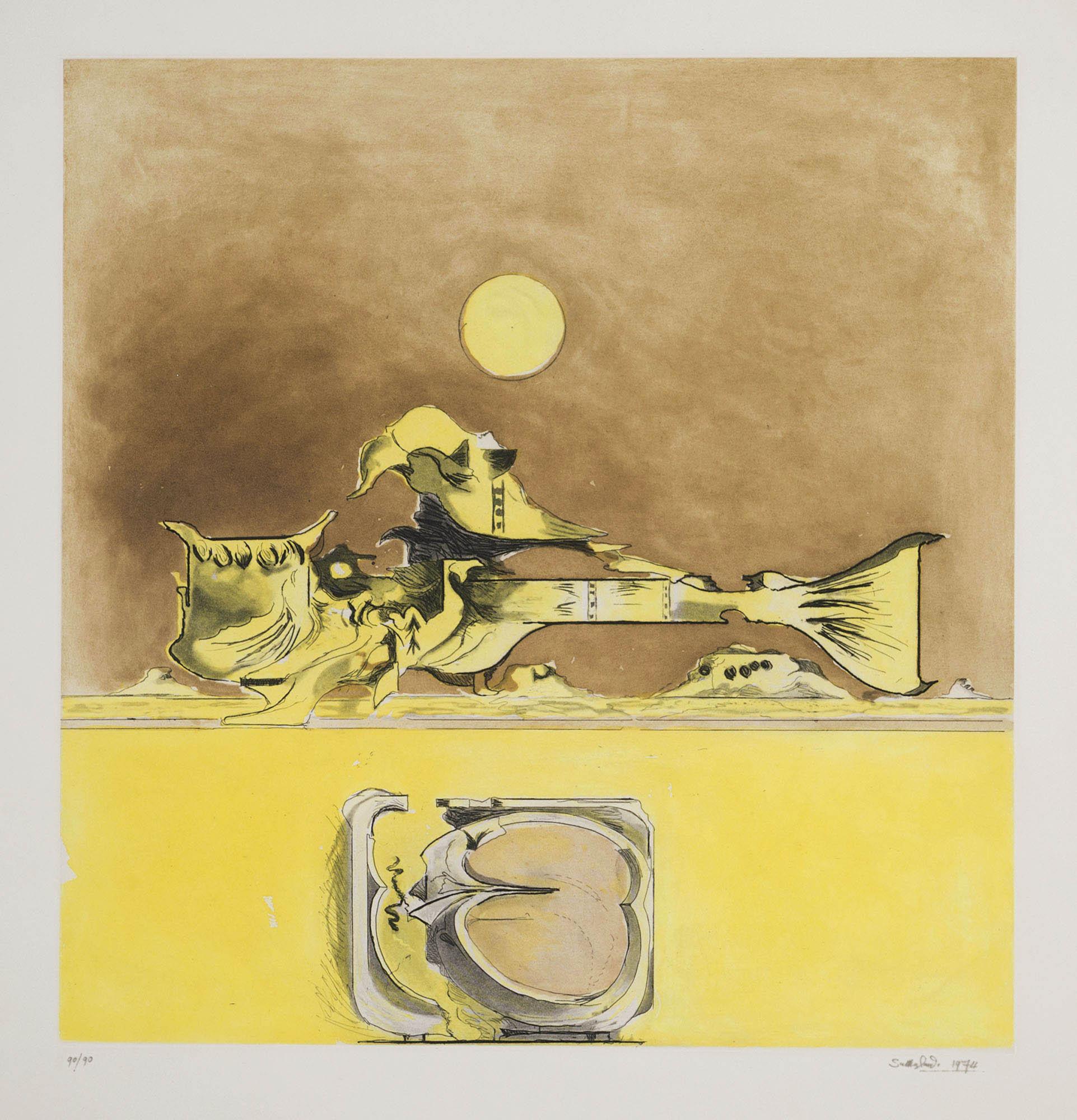 Presenza grafica (2 versions) – ocra, 1974
