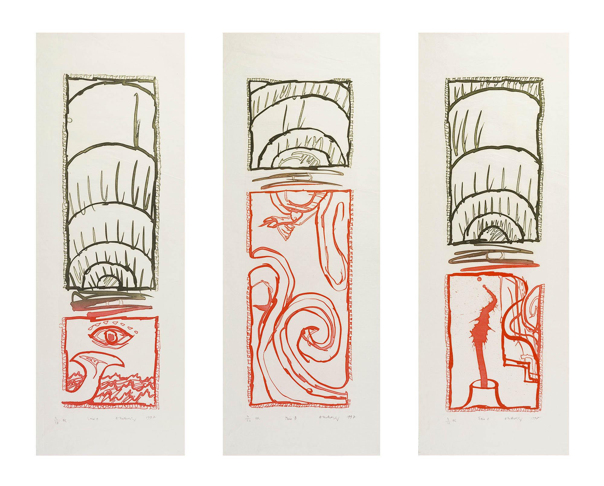 Le trio (triptych), 1995