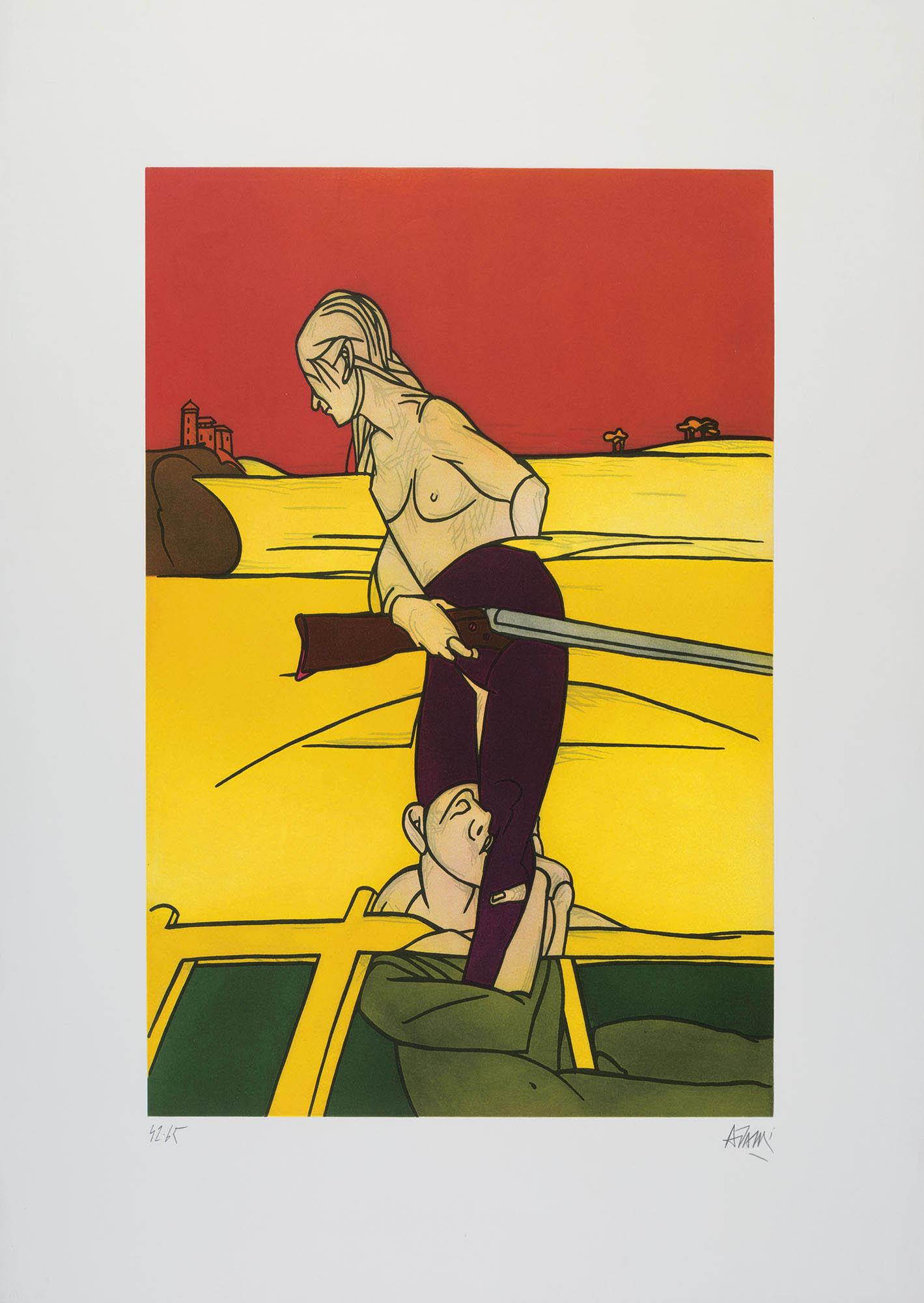 Donna con fucile, 1988