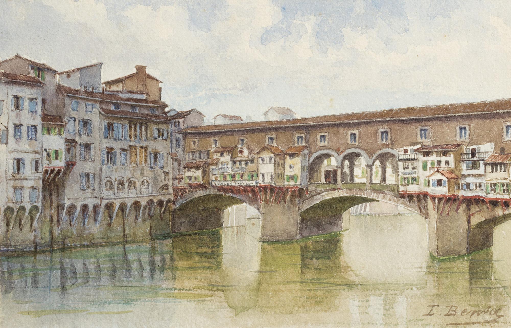 Firenze il ponte vecchio dipinti antichi e arte del xix for Ponte sopra i disegni del garage
