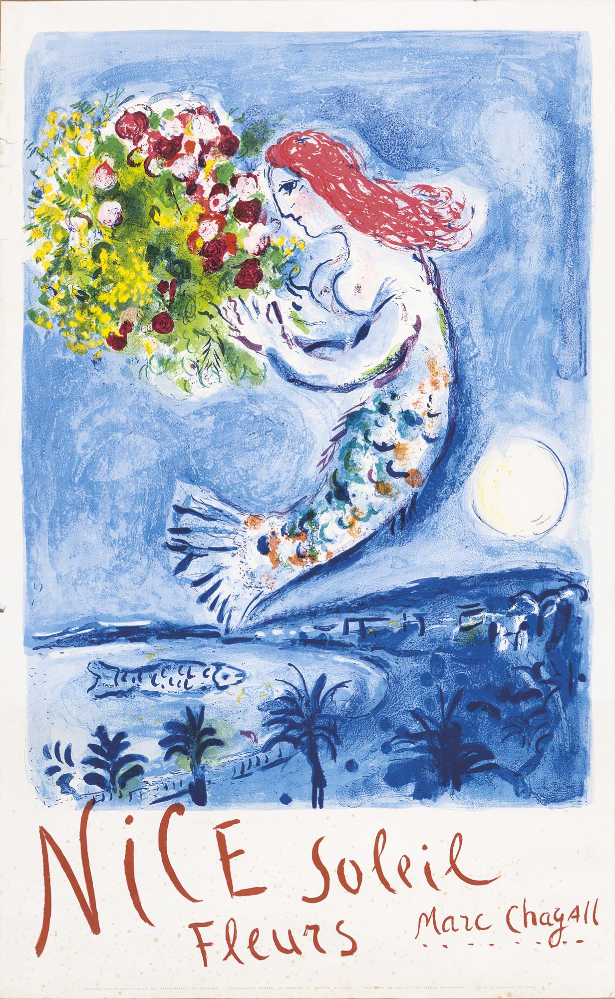 Nice, soleil, fleurs, 1962