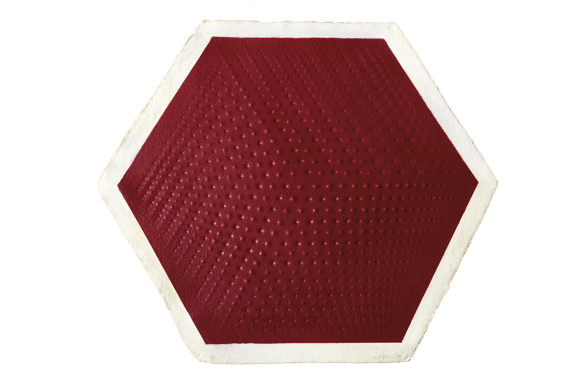 Rilievo II: Cubo – rosso, 1976