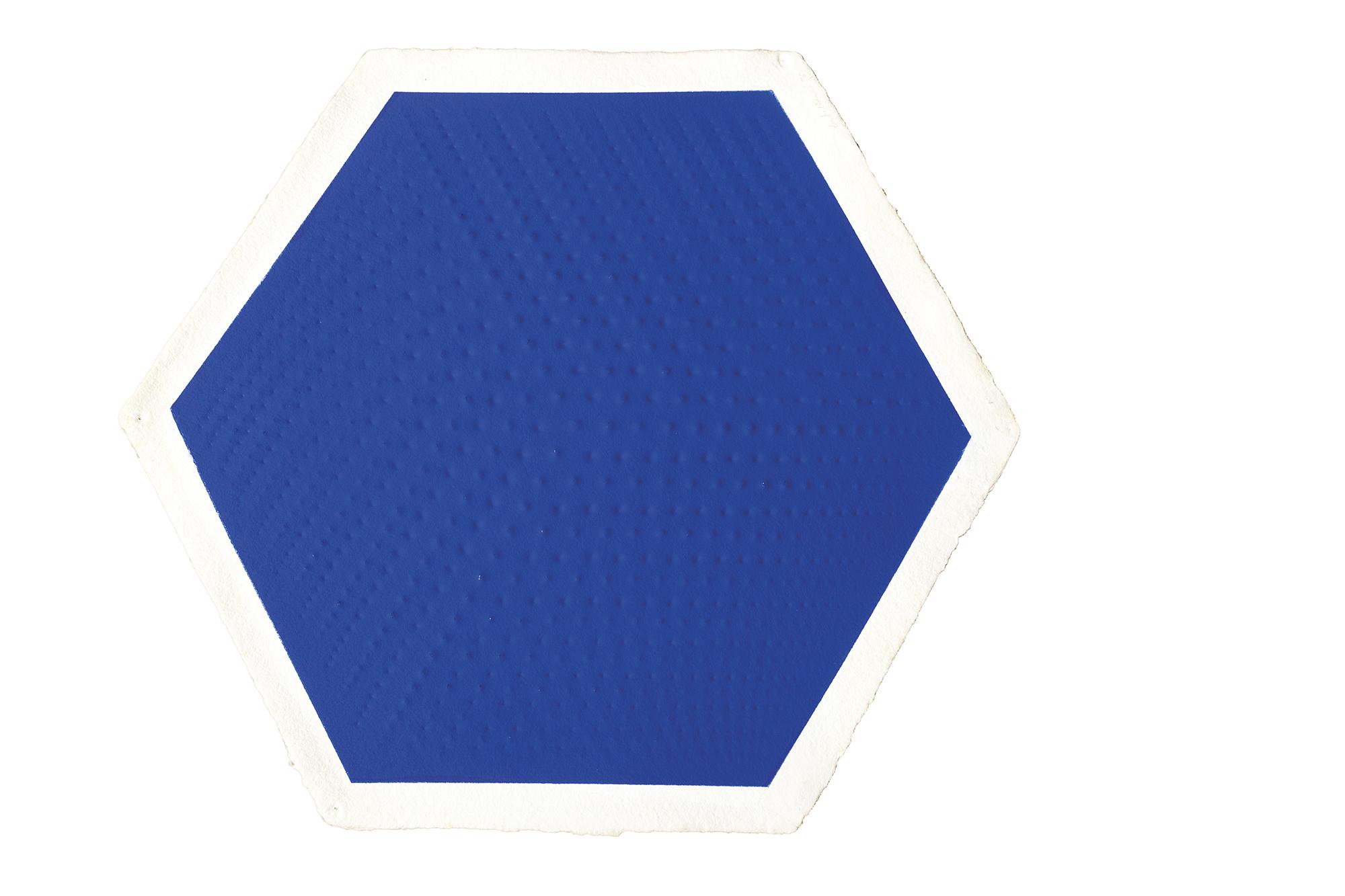 Rilievo II: Cubo – blu, 1976