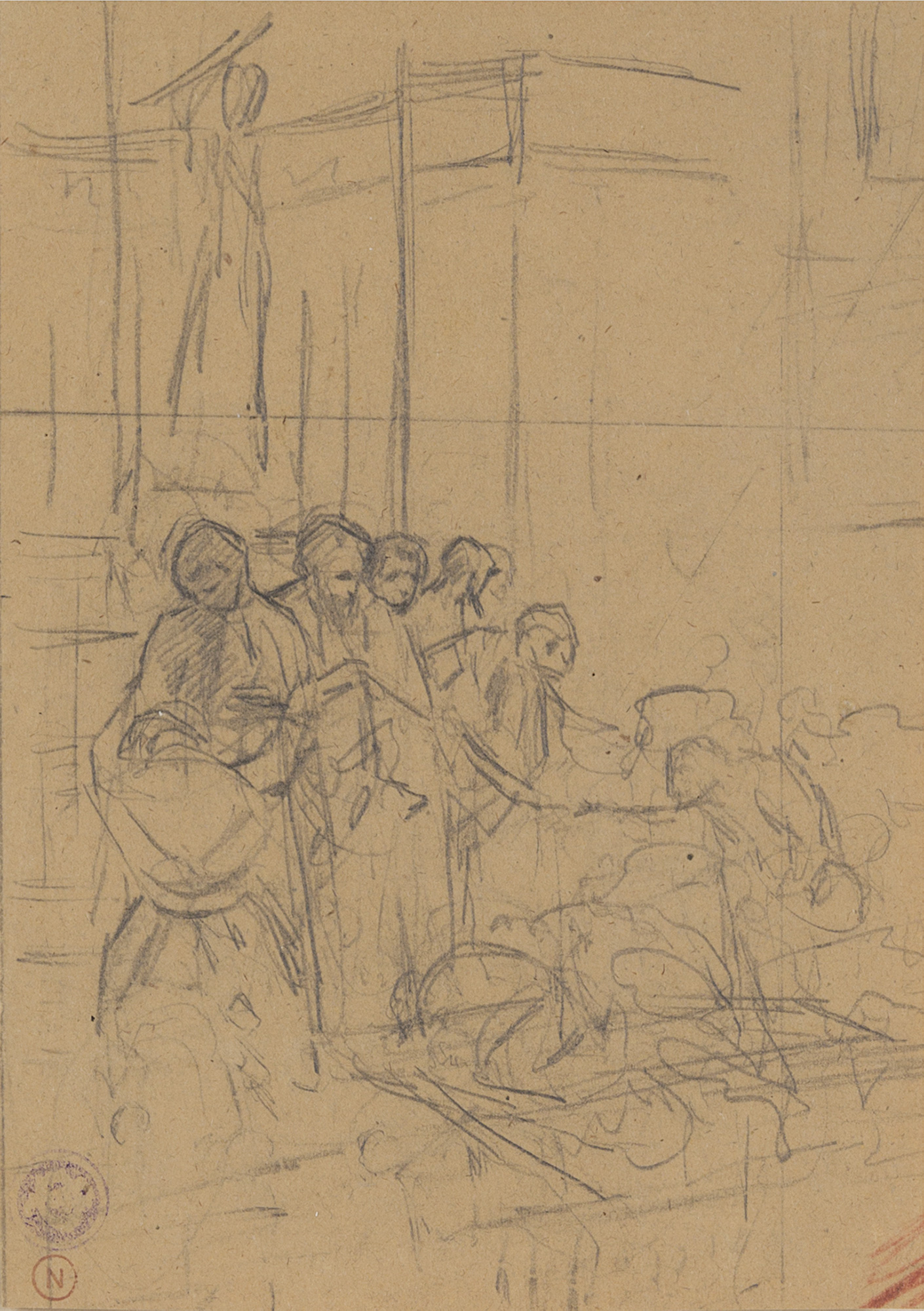 Lotto di ventisei disegni di epoche e misure diverse; ed una stampa tratta dal libro di Thomas Fuller, A Pisgah sight of Palestine con incisioni di  Robert Vaughan, Londra 1650.