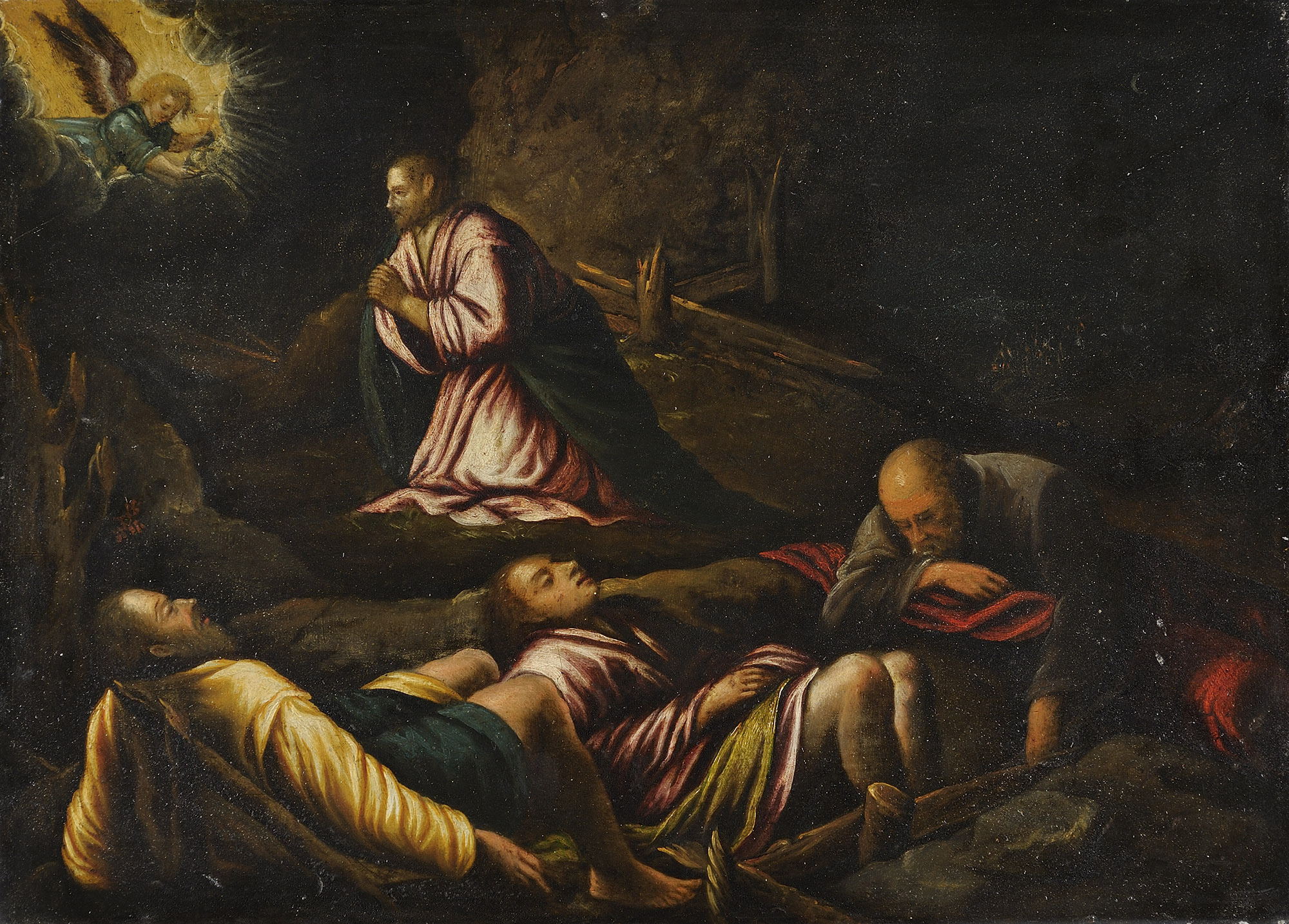 Annuncio ai pastori; e Gesù nell'orto del Getsemani