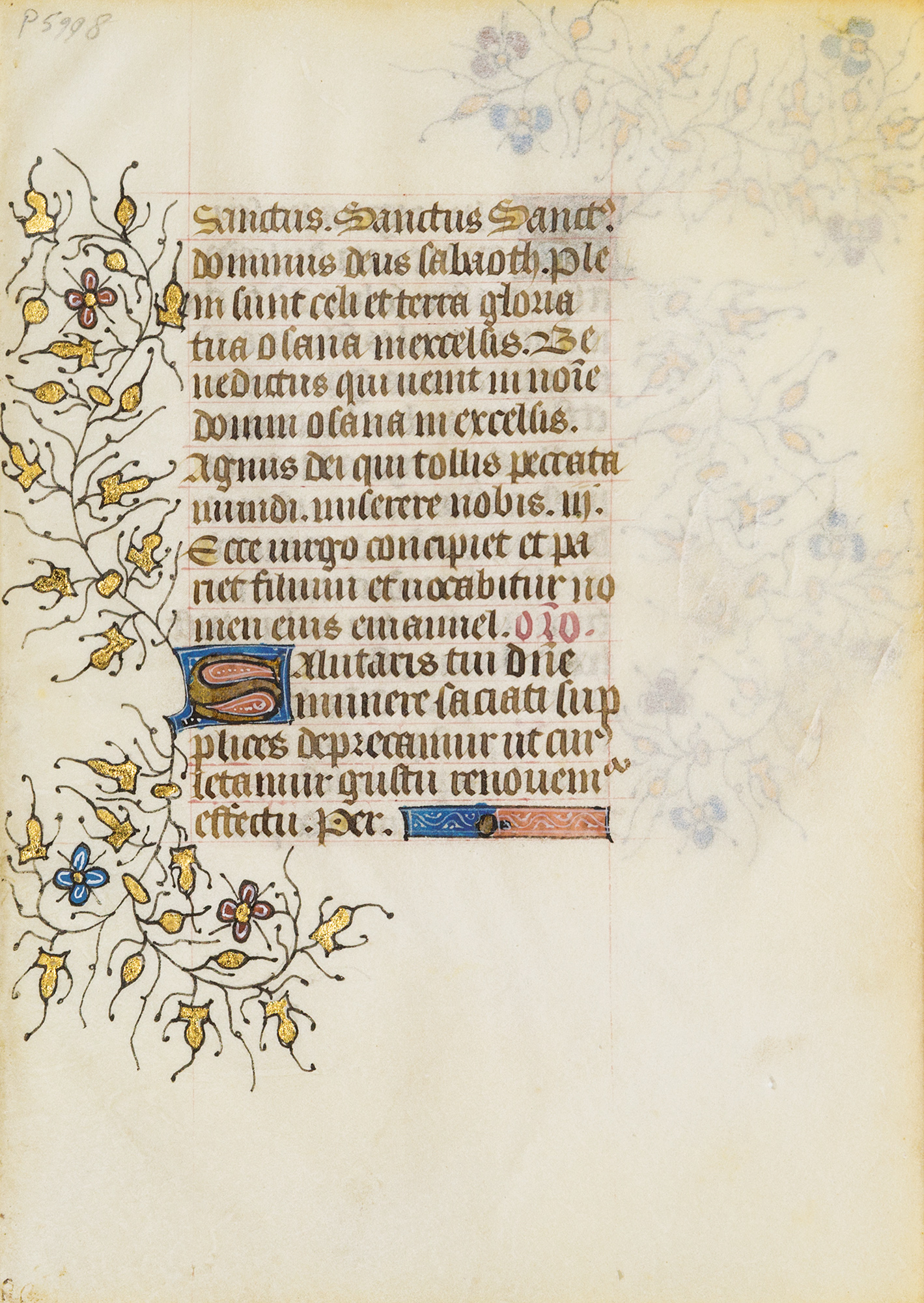 Sanctus, Agnus dei, Salve regina, etc.