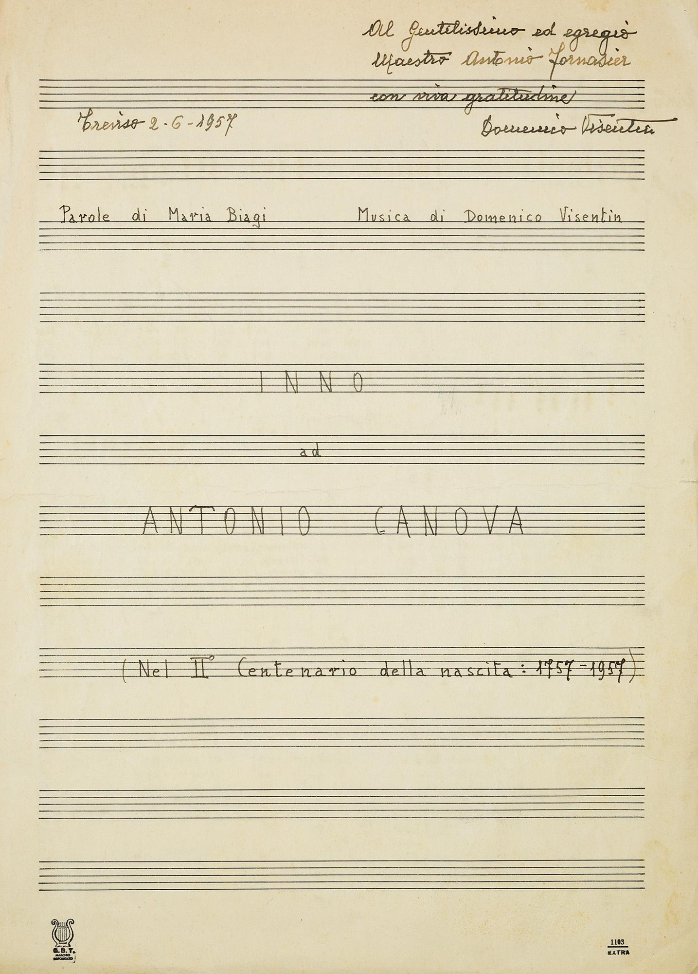 Inno ad Antonio Canova