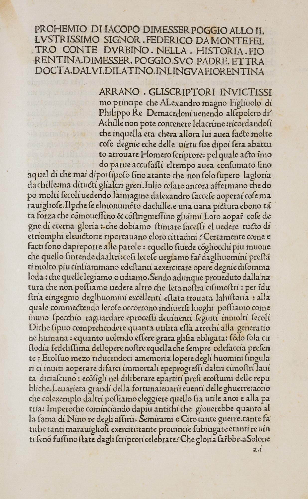 Historiae Florentini Populi (in italiano. Tradotta dal latino da Danatus Acciaiuolus)