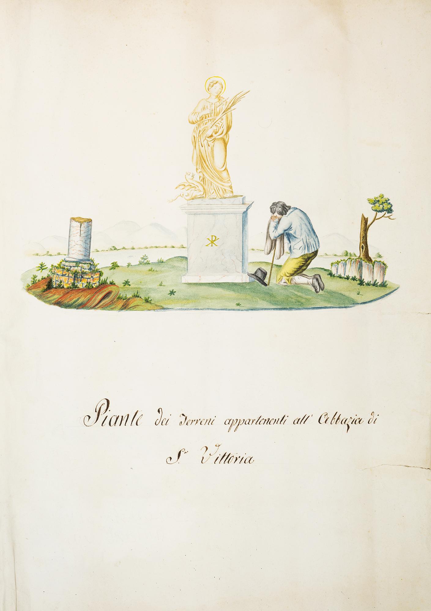 Piante dei terreni appartenuti all'Abbazia di S. Vittoria