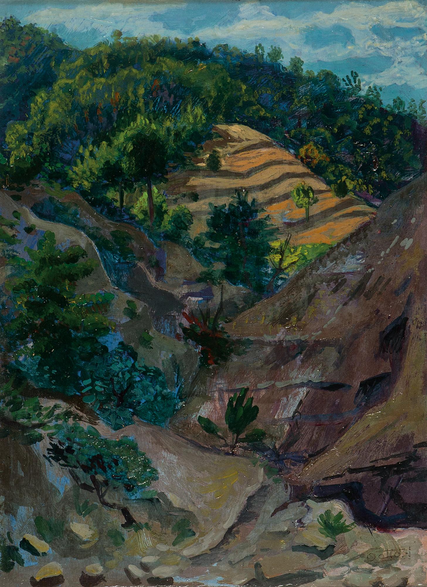 Paesaggio umbro, Anni '40