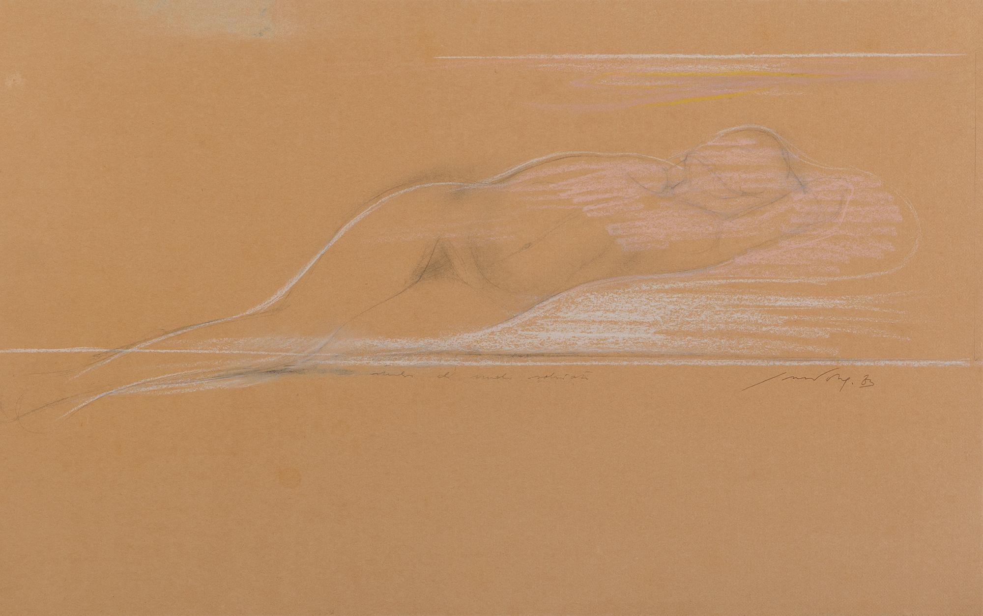 Studio di nudo sdraiato, 1983