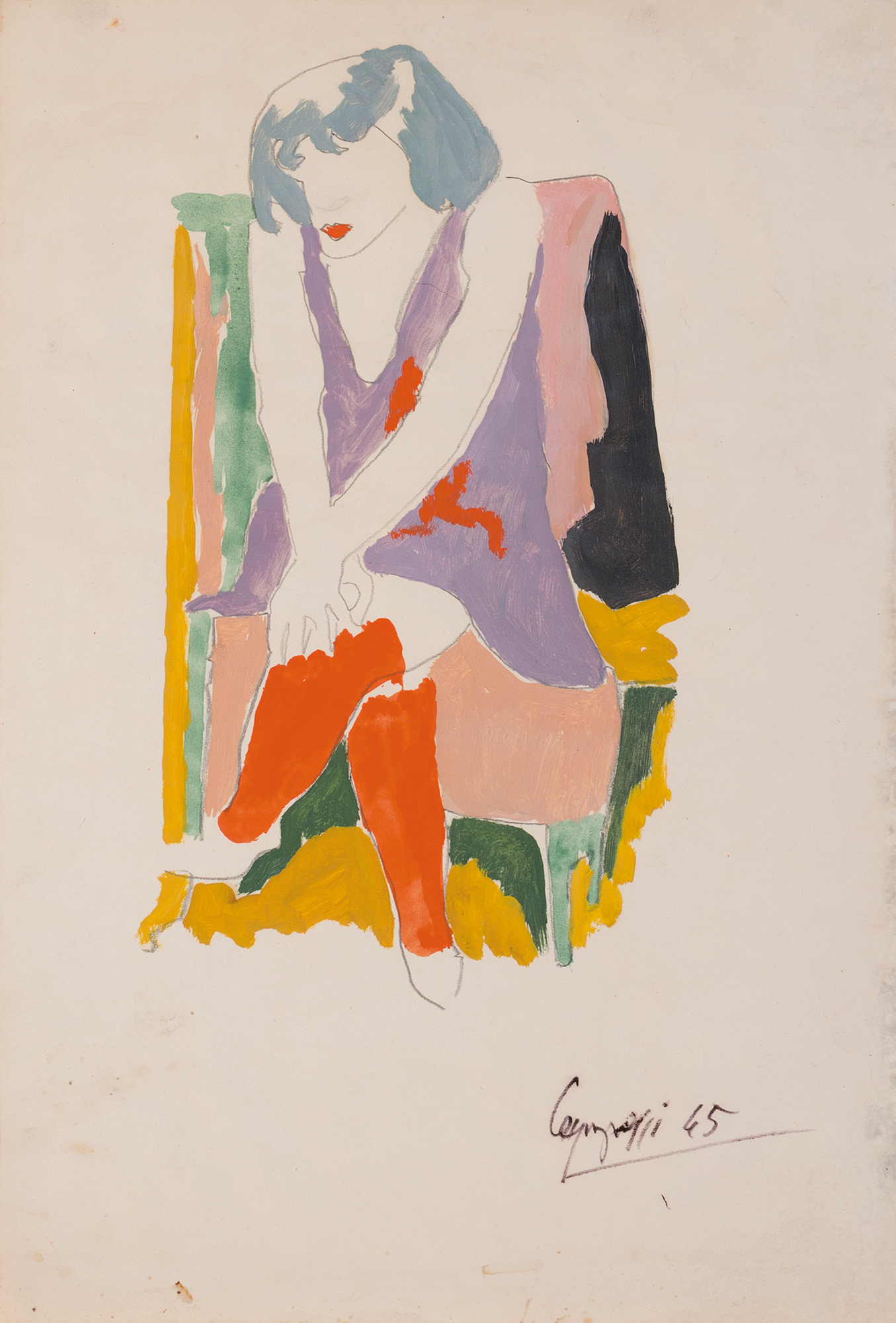 Ballerina seduta, 1945