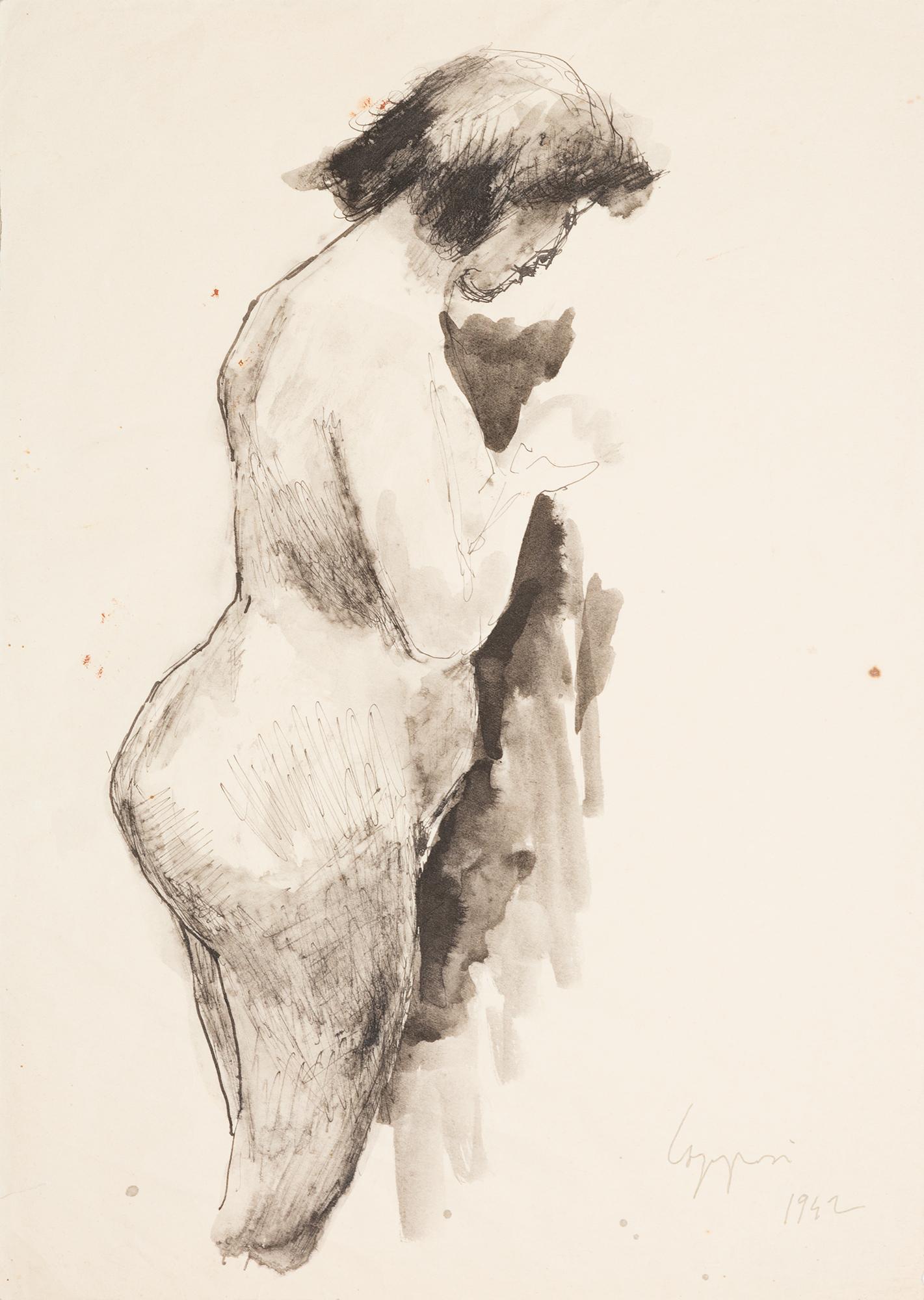 Nudo femminile di fianco, 1942