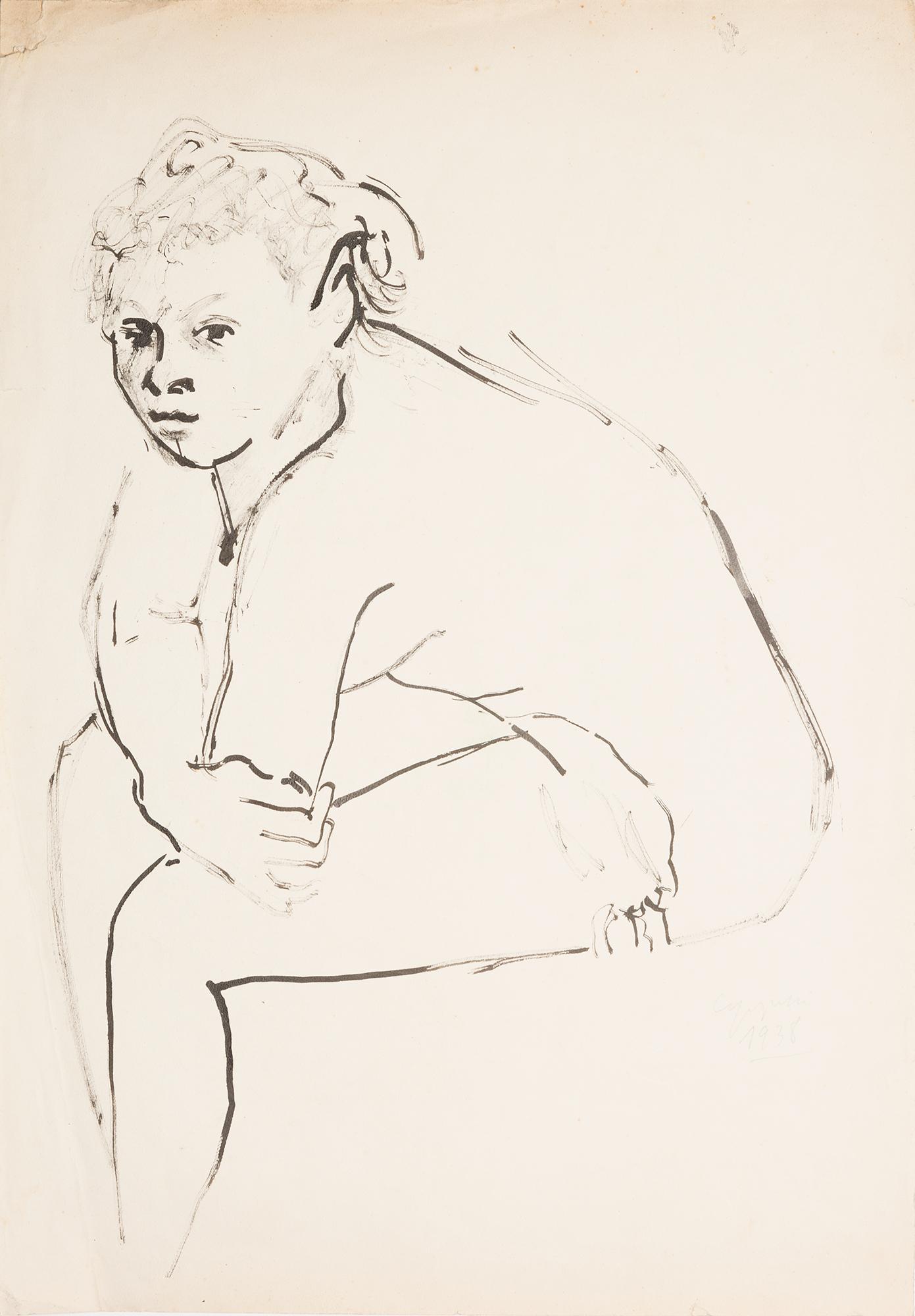 Donna seduta, 1940/'41