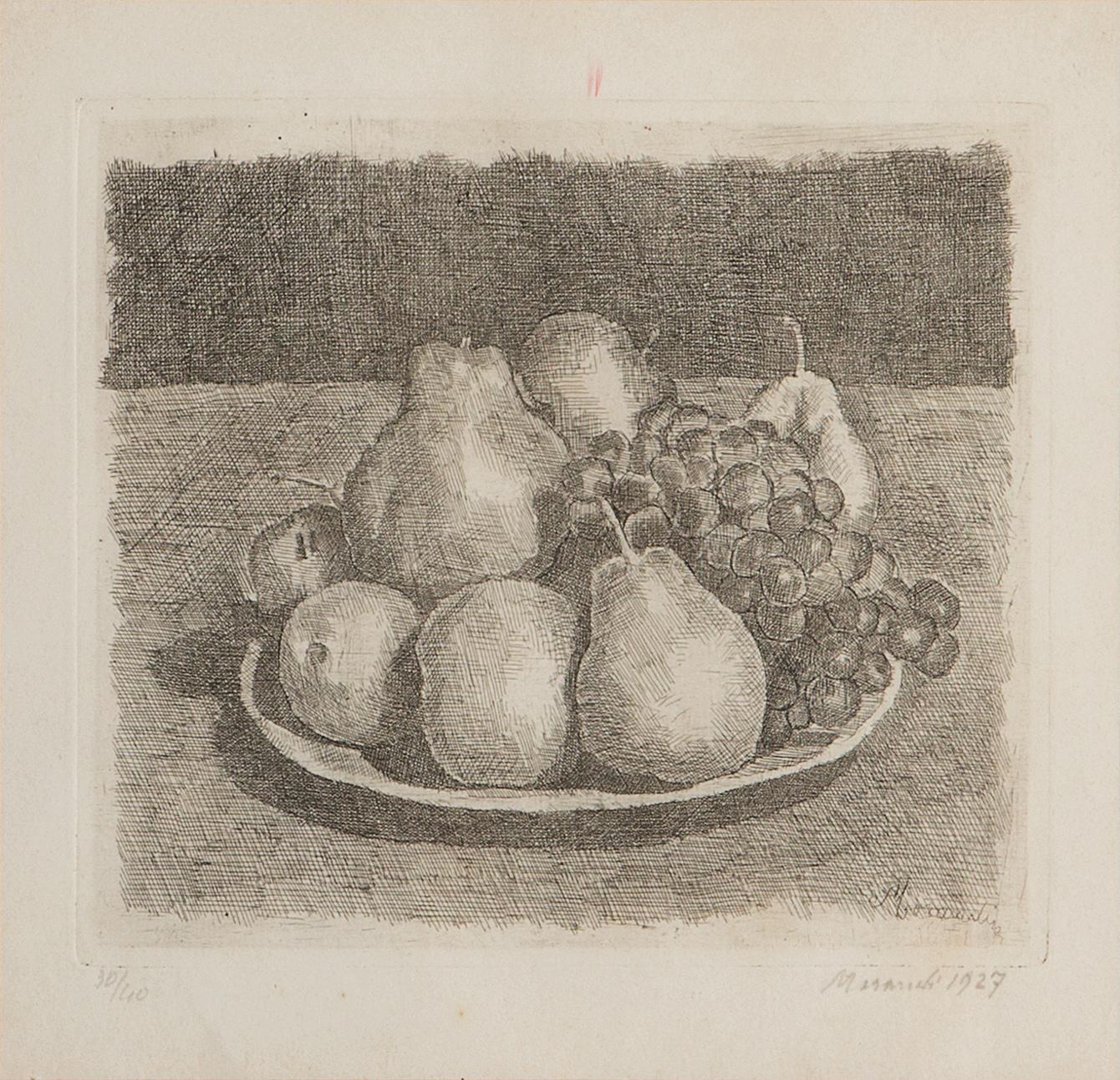 Natura morta con pere ed uva, 1927