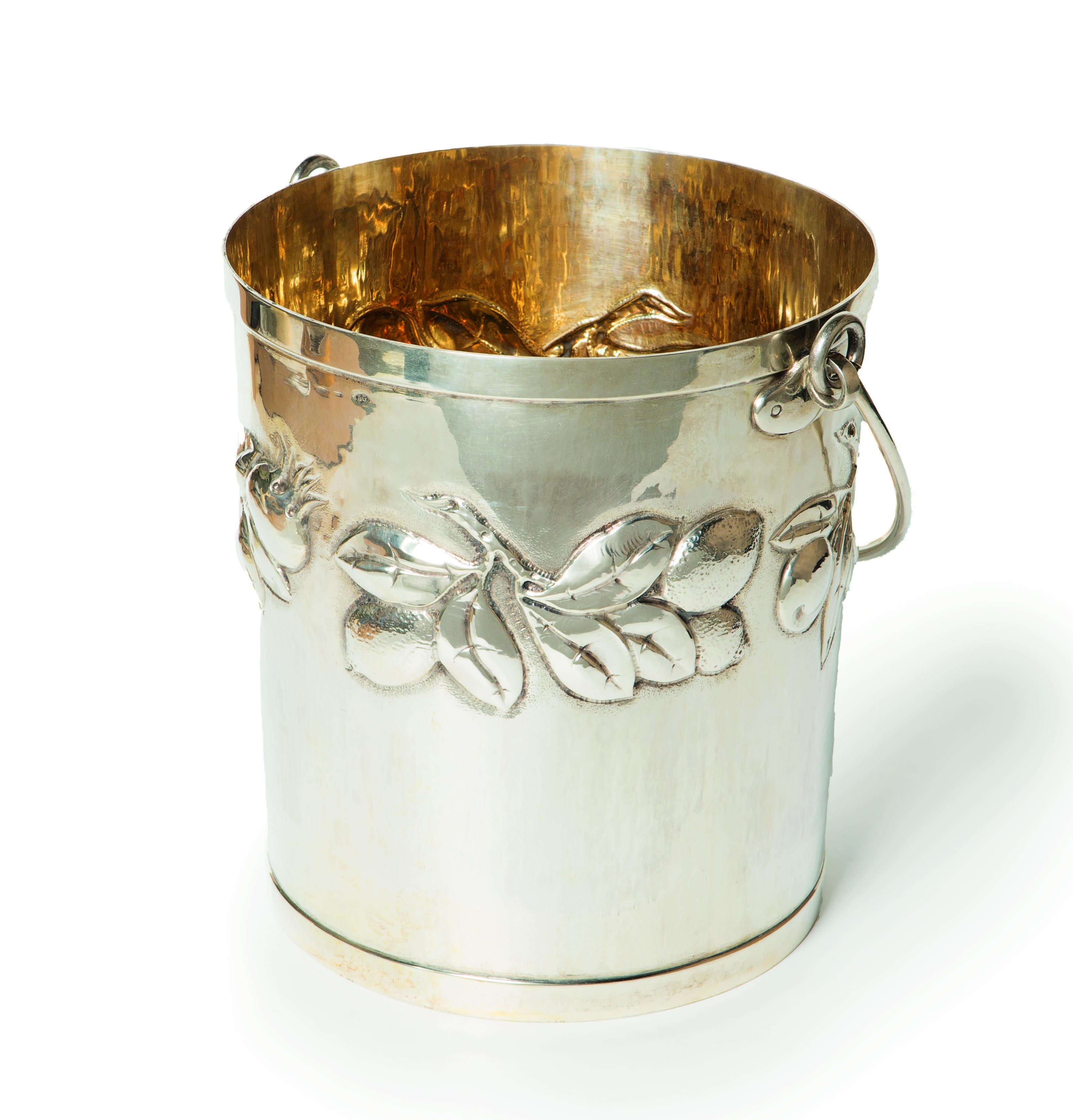 Brandimarte grande secchiello portaghiaccio in argento for Secchiello portaghiaccio