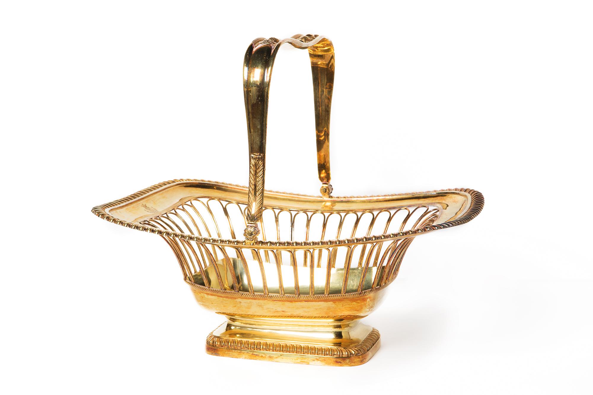 Importante cestino in argento dorato parigi inzio xix for Collezione bulgari