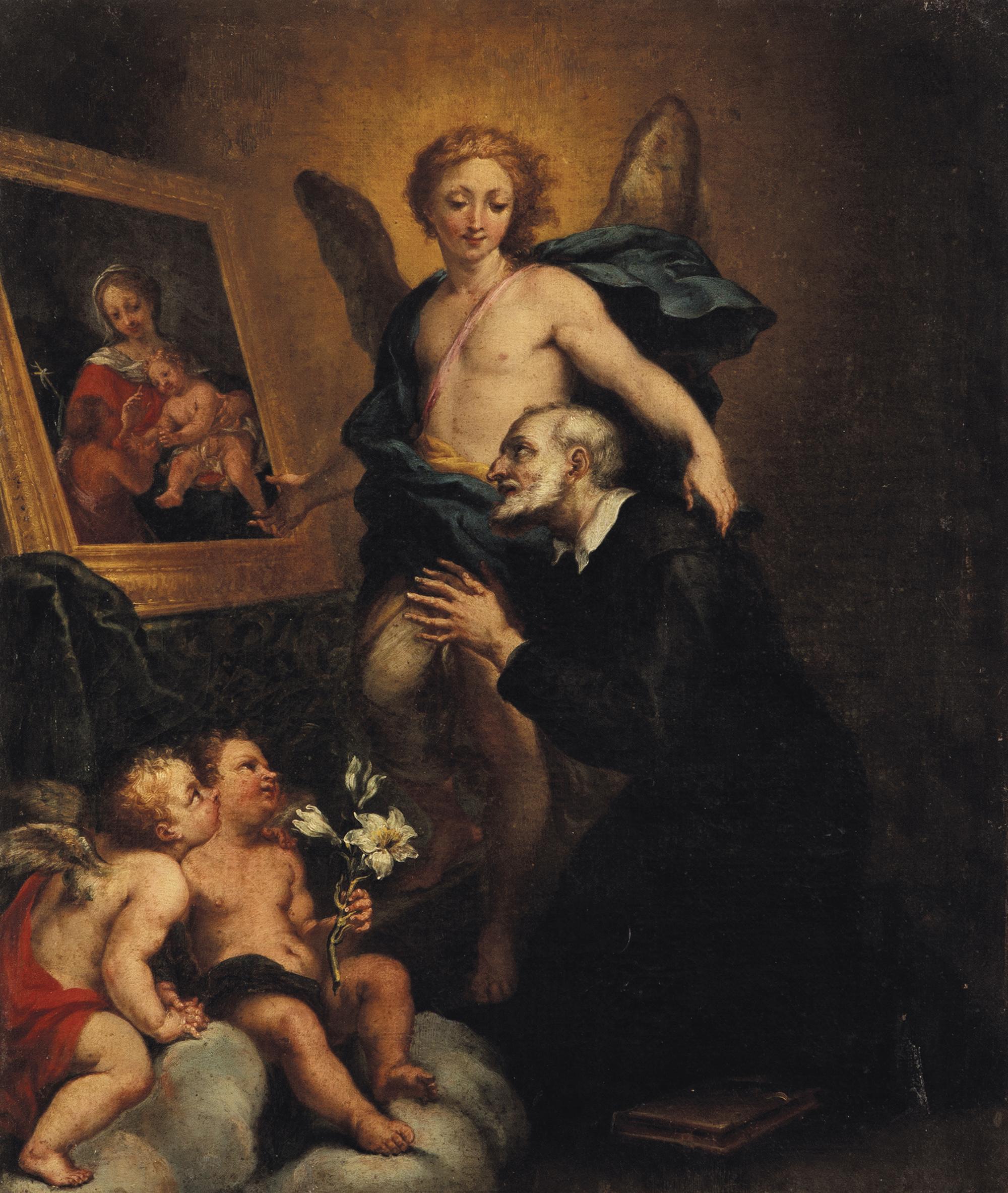 L'Angelo mostra a San Filippo Neri un dipinto della Vergine con Bambino e San Giovannino