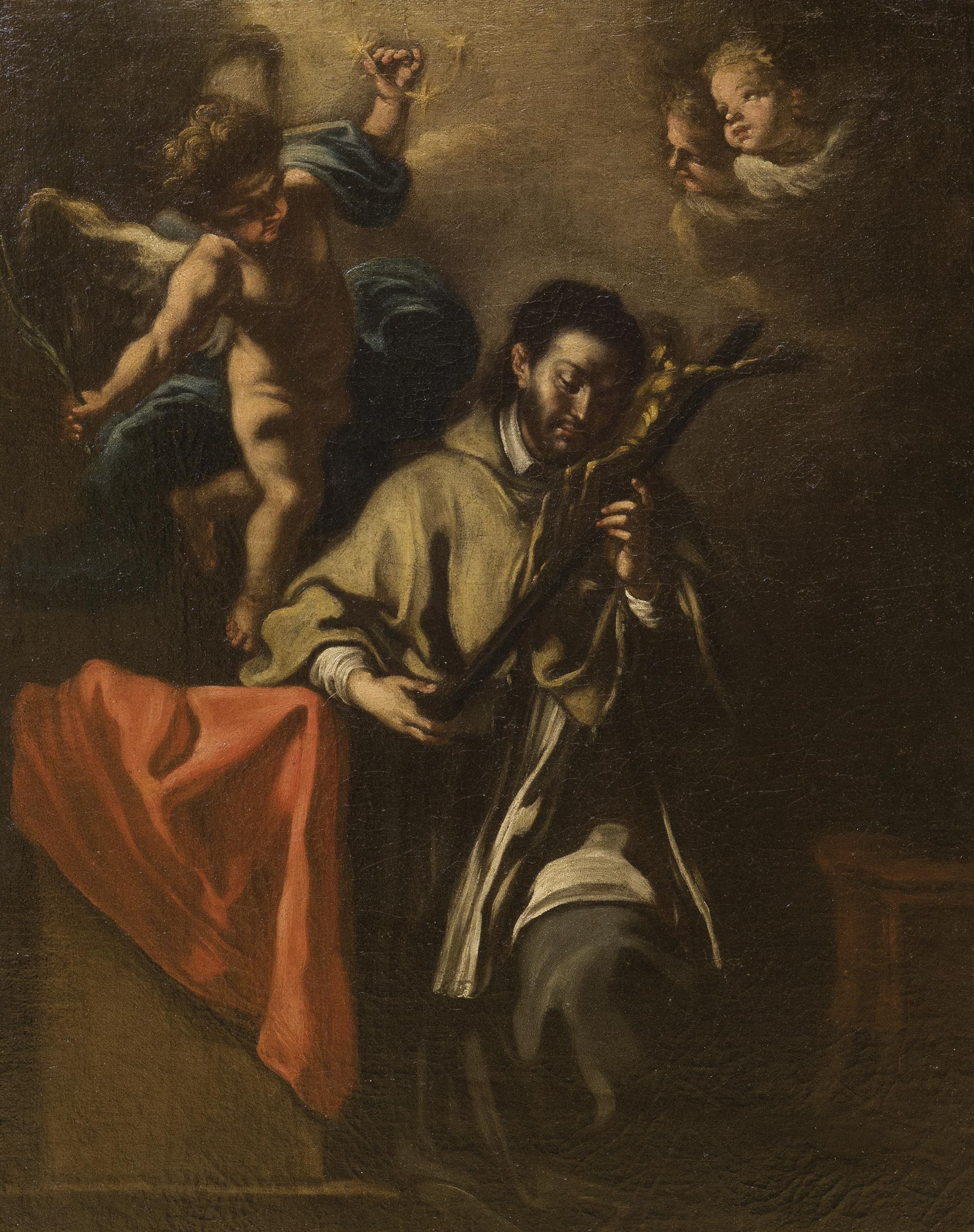 San Luigi Gonzaga in adorazione del Crocifisso