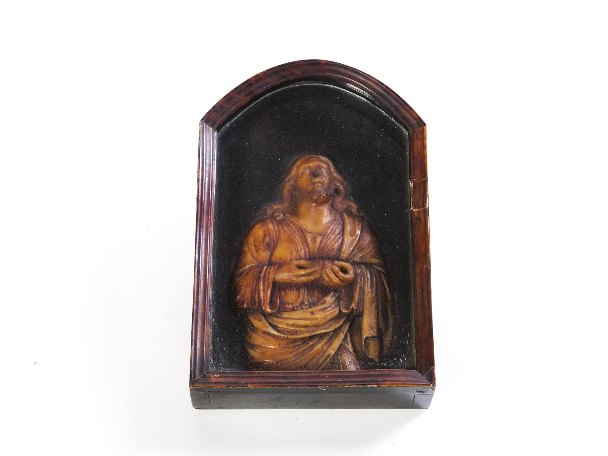 Rilievo in cera raffigurante Cristo eucaristico, Napoli secolo XVIII