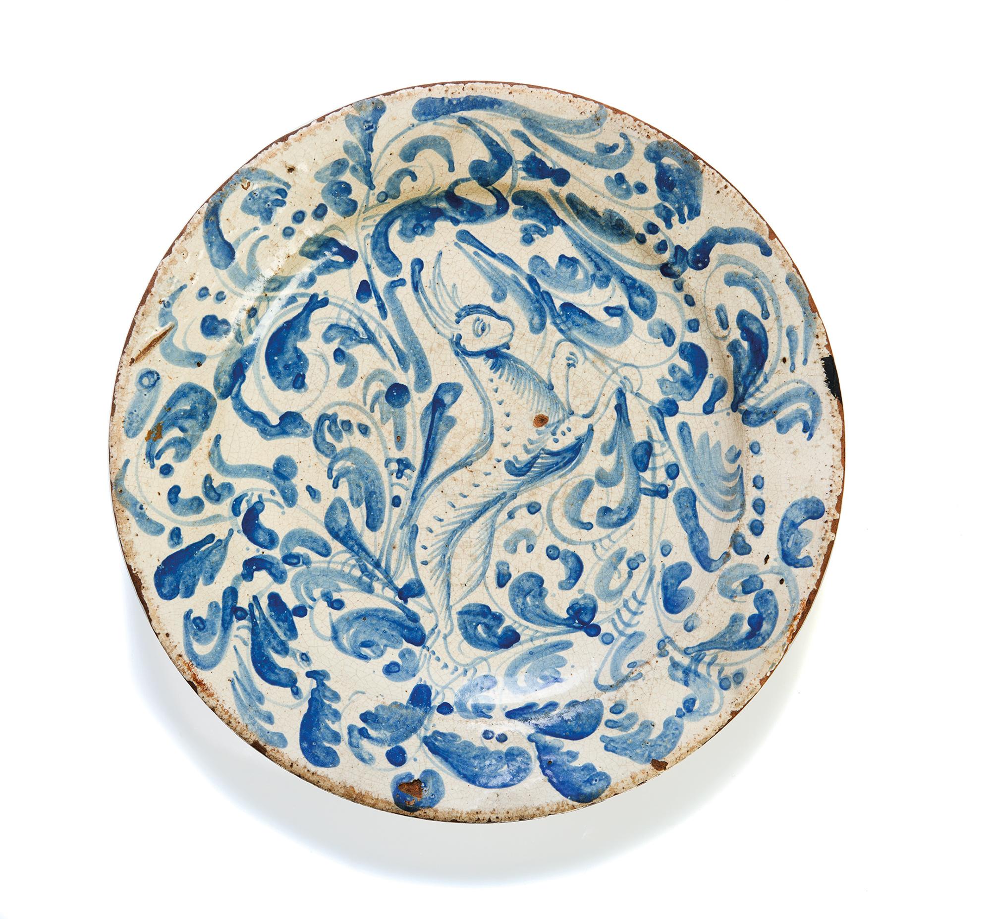 Piatto da parata in ceramica, Italia meridionale secolo XVIII