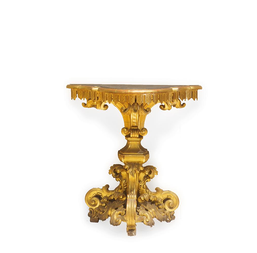 coppia di piccoli tavoli da parete met secolo xix