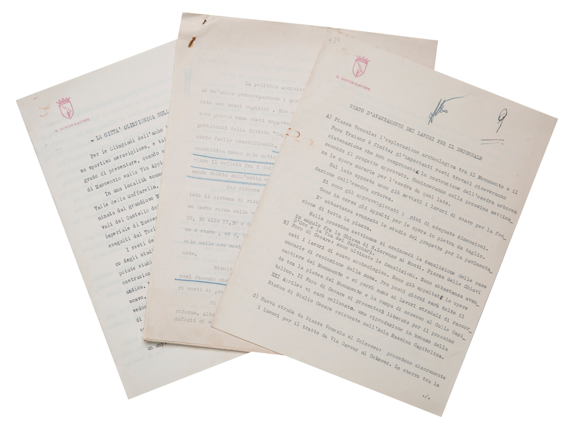 Carte e documenti autografi