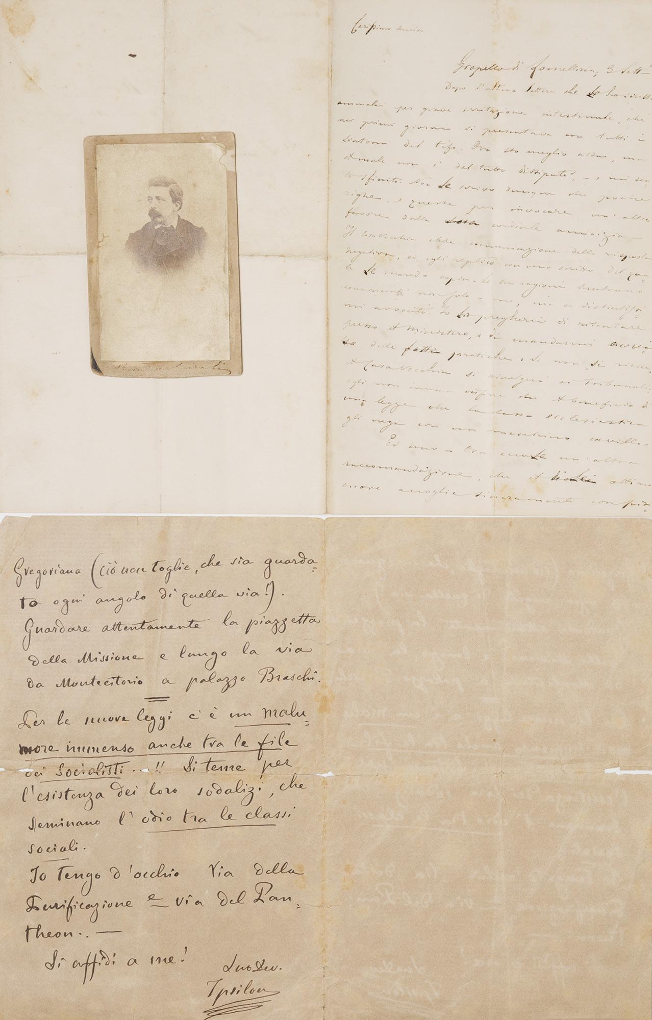 Lettera autografa firmata