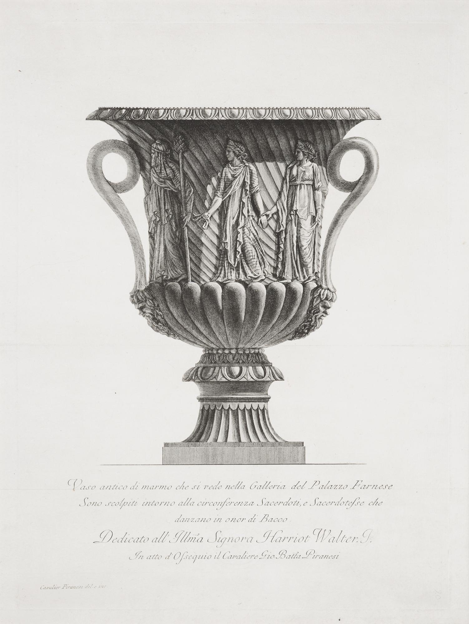Piranesi vasi antichi di marmo eccellentemente scolpiti for Vasi antichi