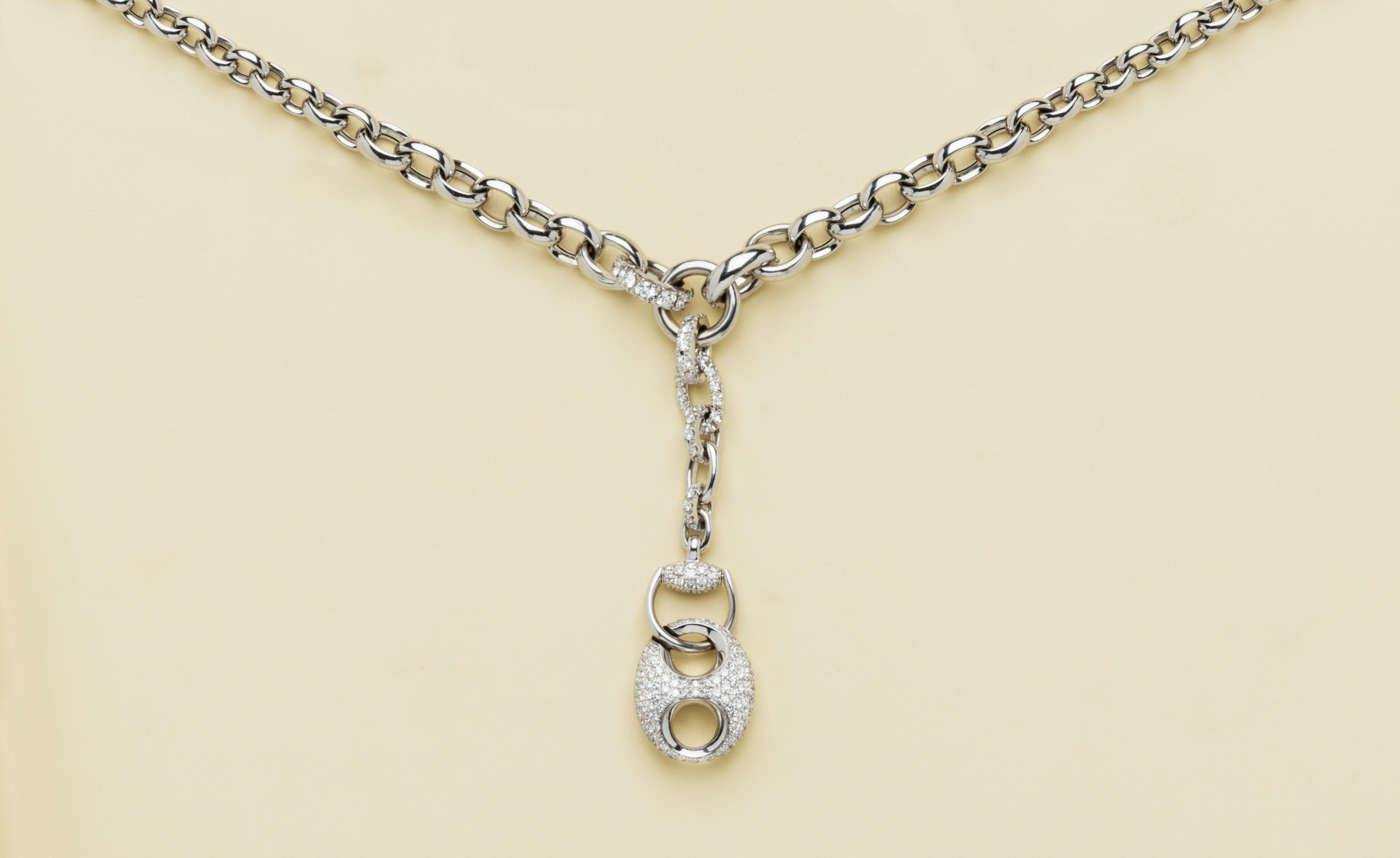 in vendita 4668d de86b collana in oro bianco e diamanti
