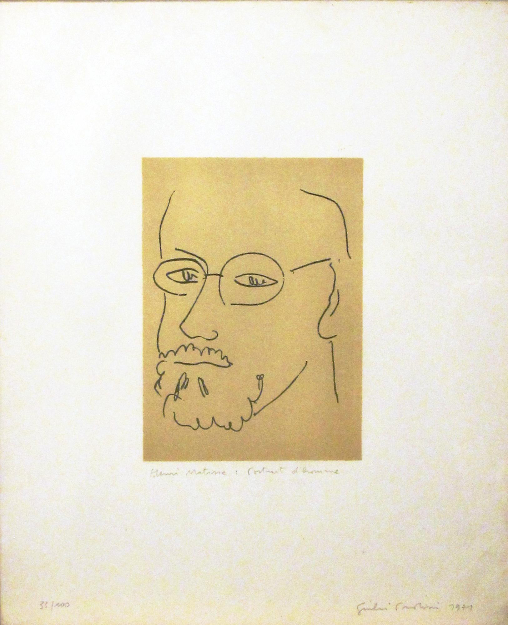 Henri Matisse: portrait d'homme, 1971