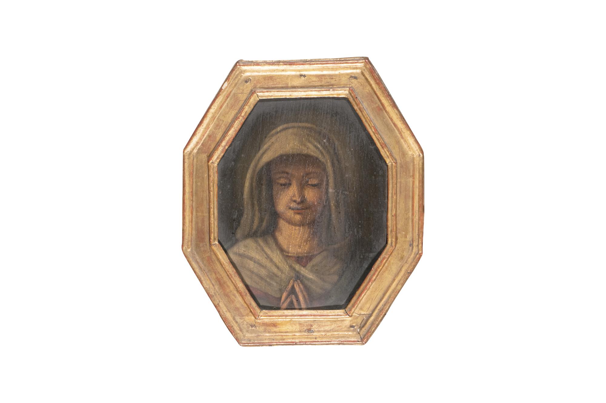 Sei dipinti raffiguranti volti di santi, la Madonna orante e il Salvator Mundi