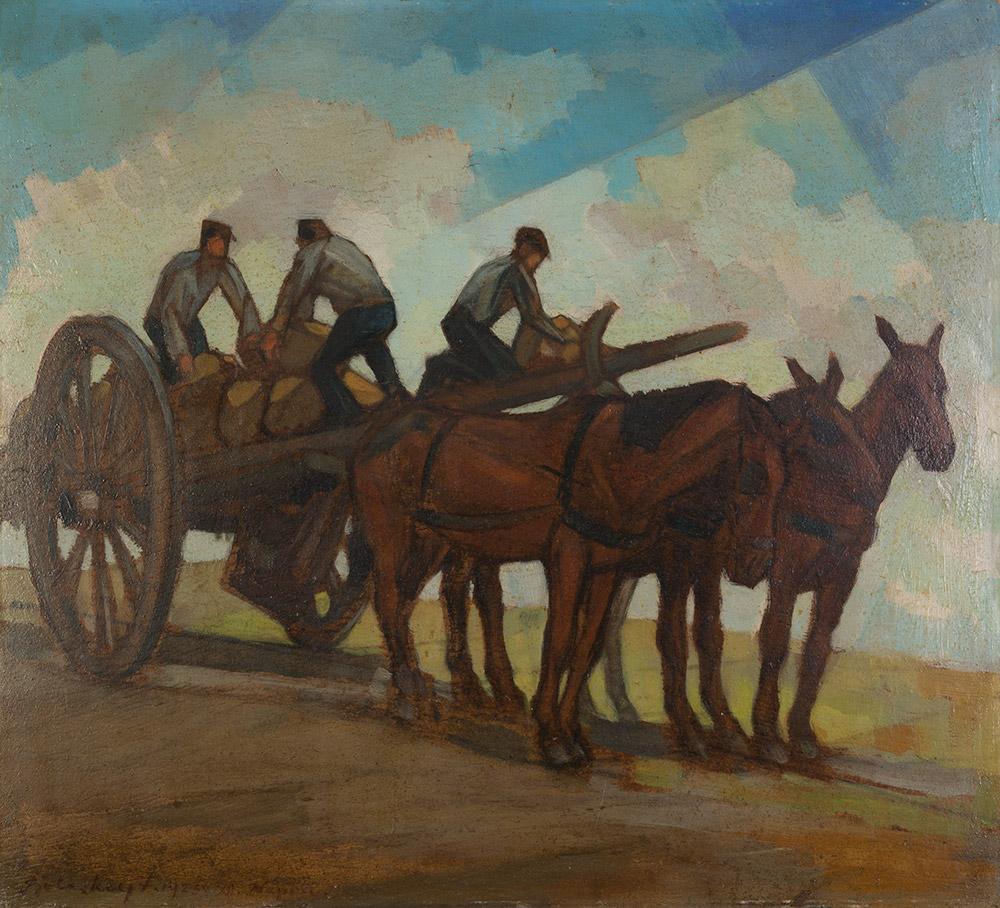 Il trasporto delle pietre, 1925