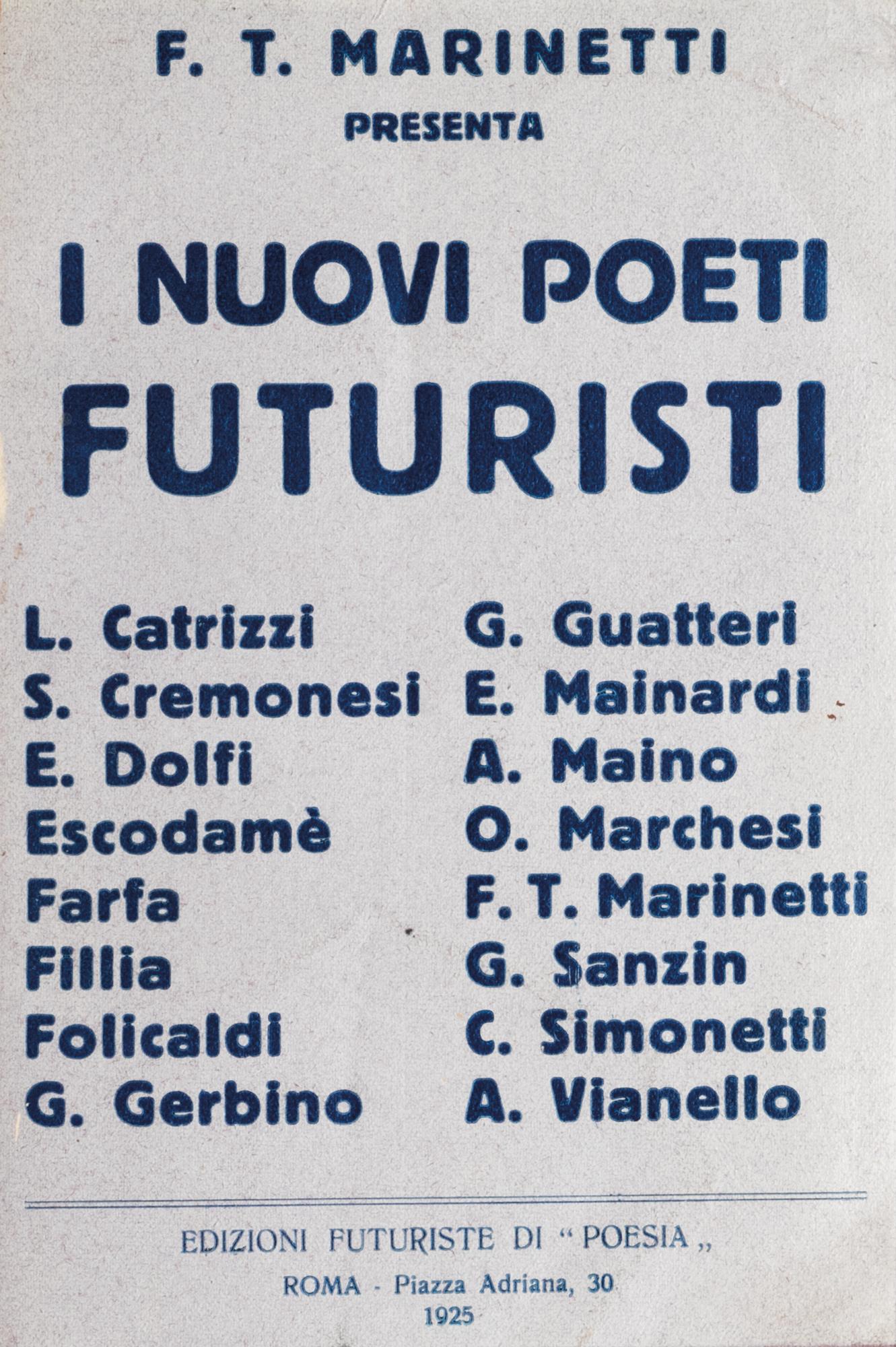 I nuovi poeti futuristi 1925