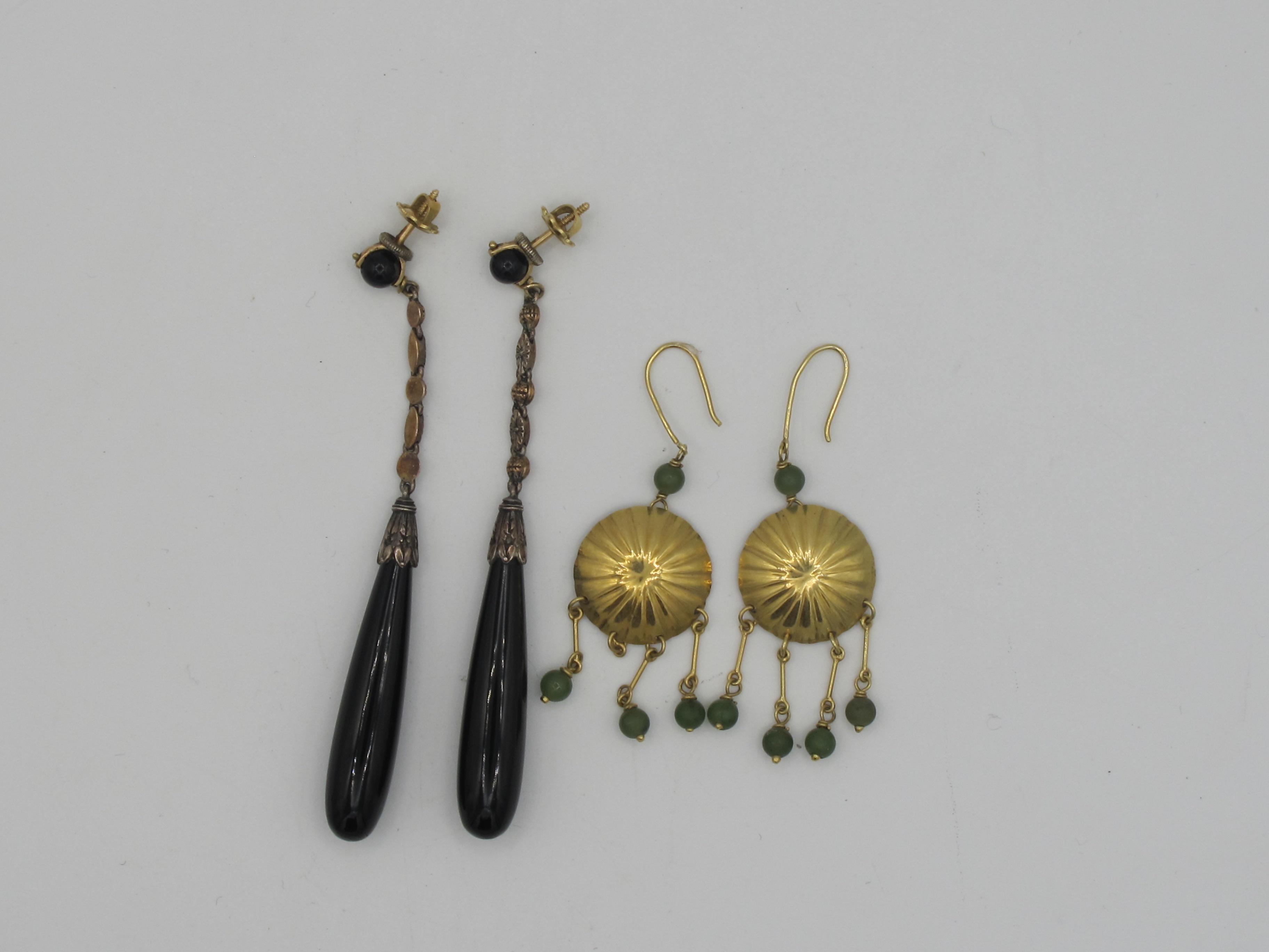 in argento, oro, onice e pietre verdi