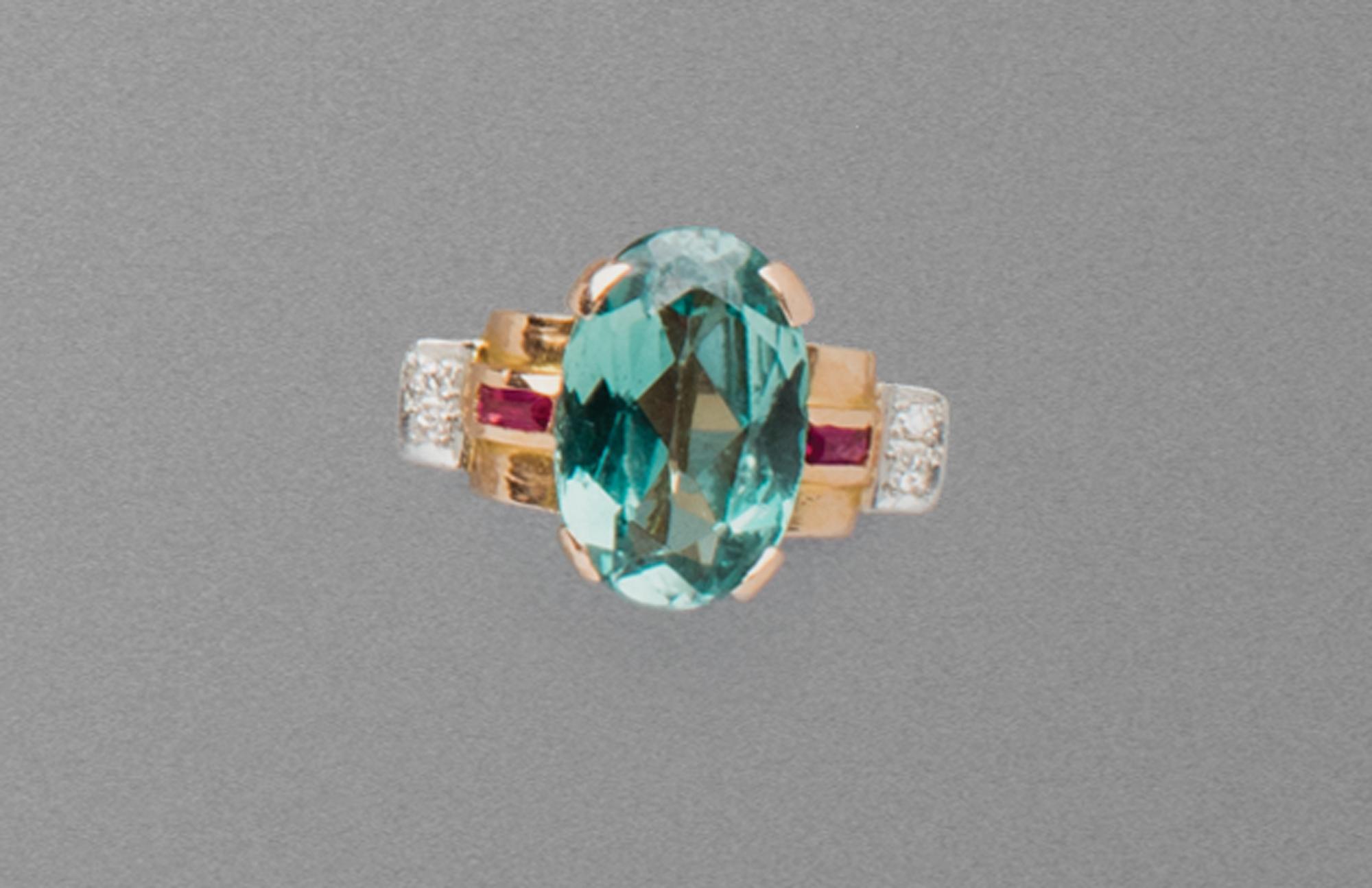 in oro, pietre di colore e diamanti, 1950 circa