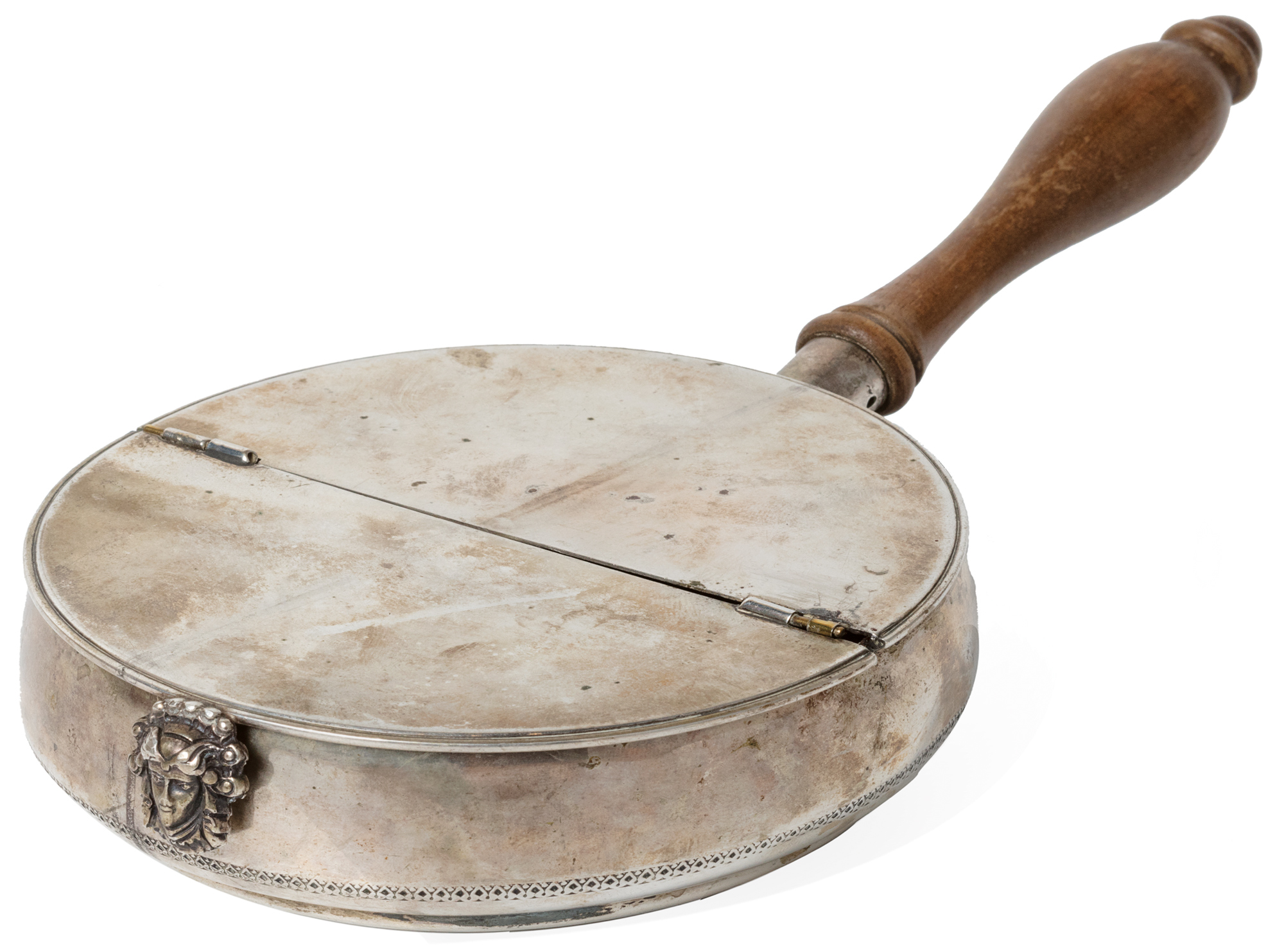 in argento e legno