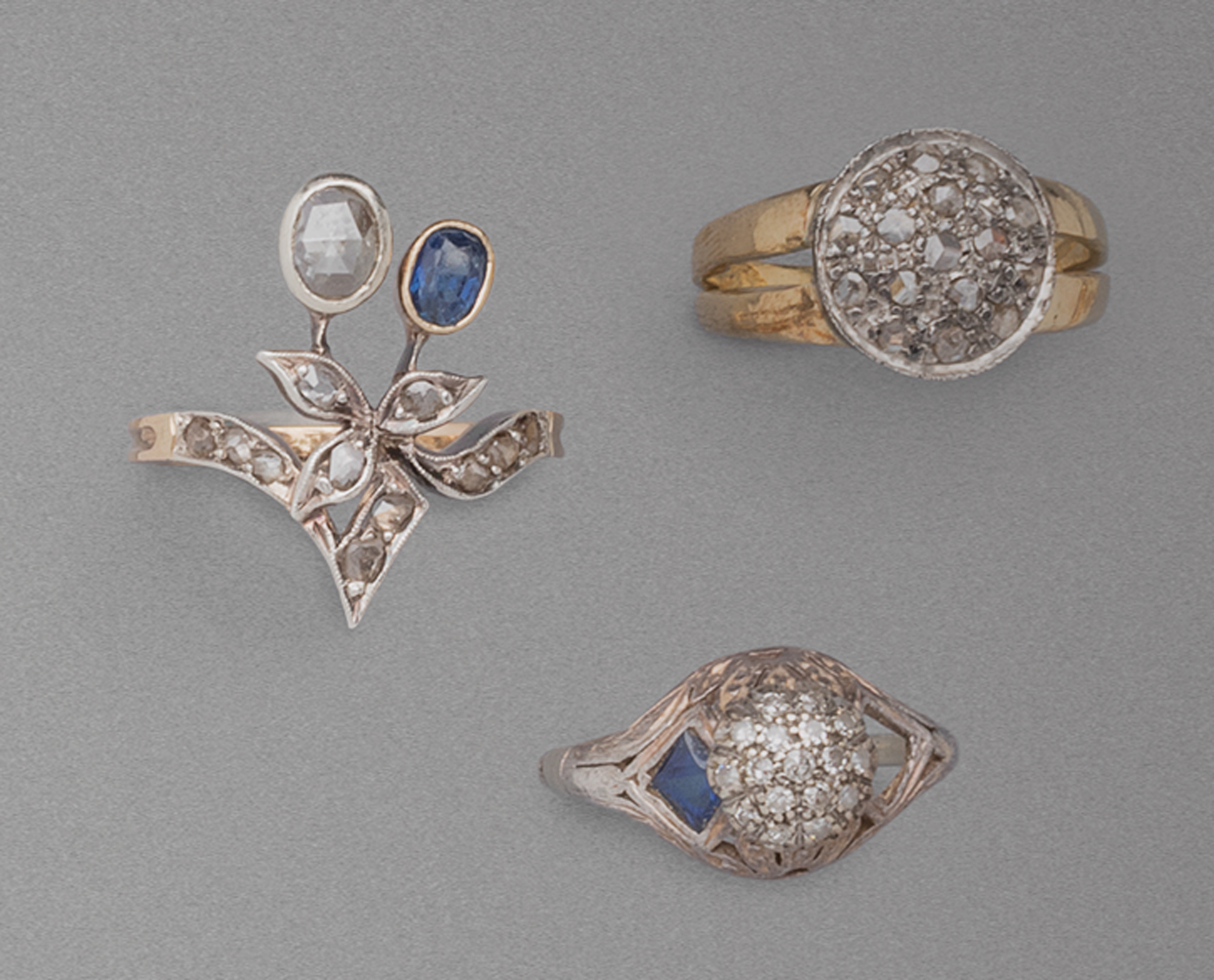 in argento, oro e diamanti