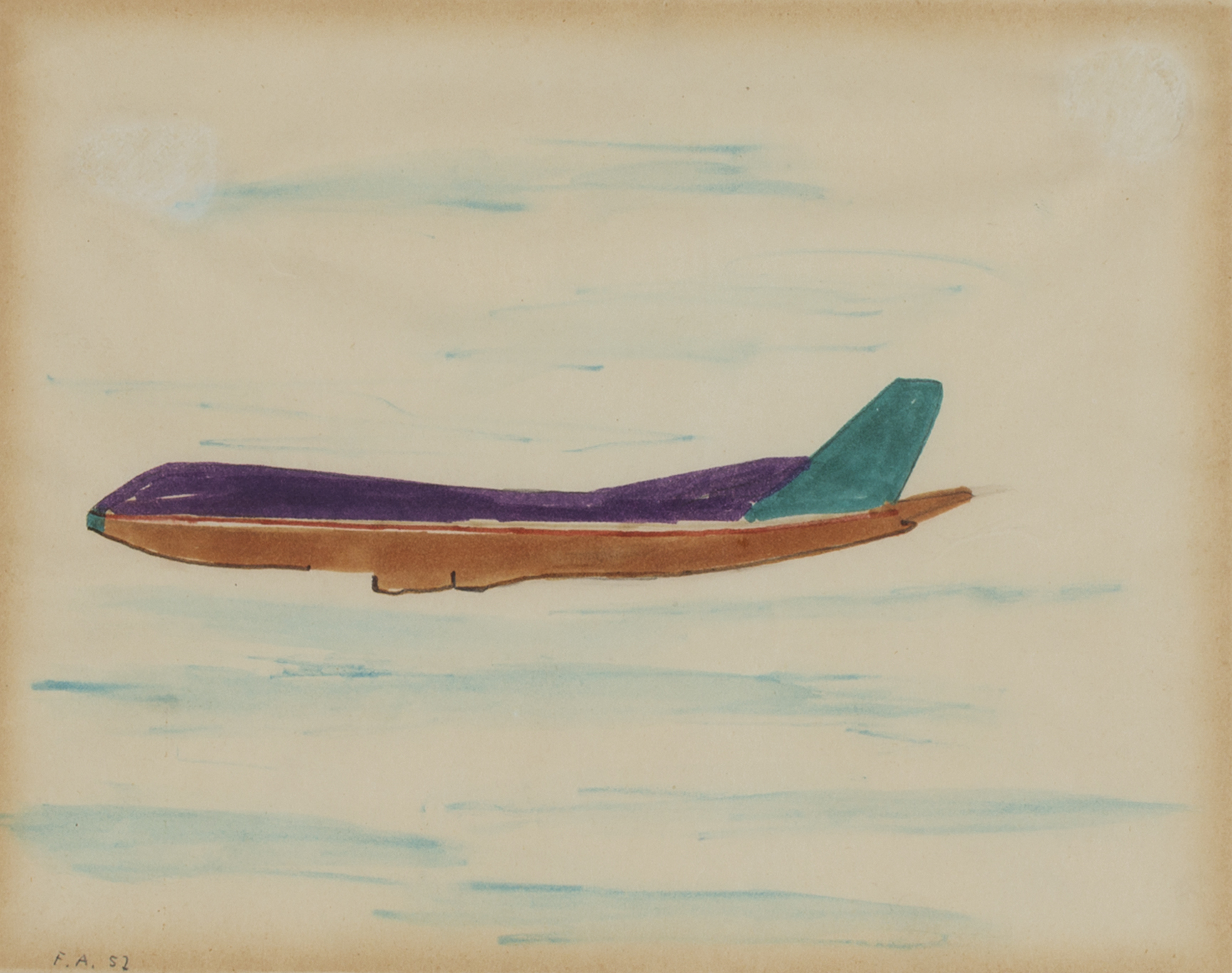 Senza titolo-aereo, 1957